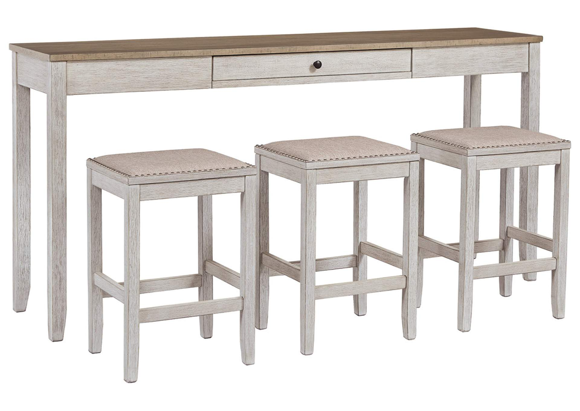 Skempton Counter Height Dining Room Table And Bar Stools Set Of 3 Ivan Smith
