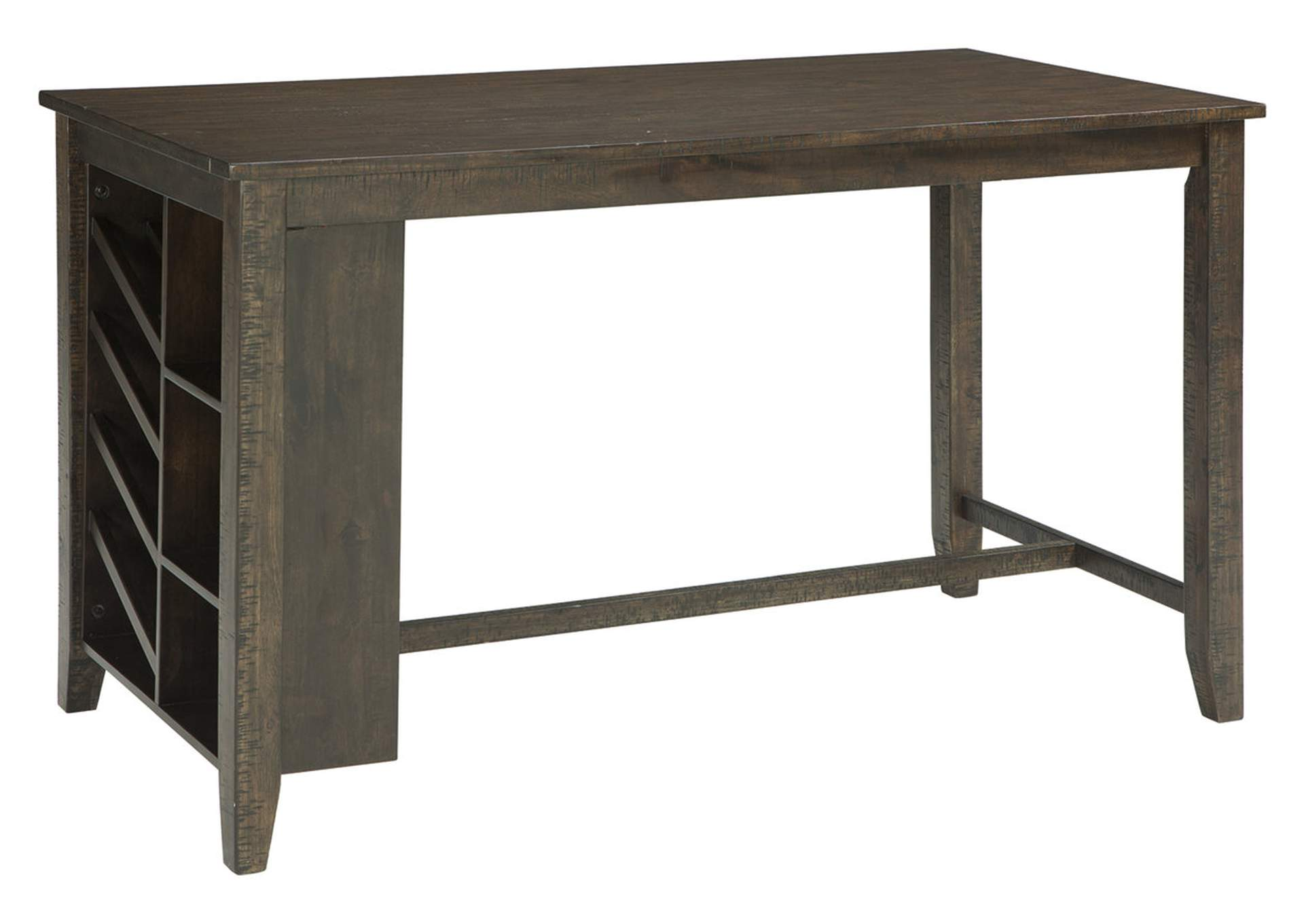 Rokane Brown Rectangular Counter Table w/Storage,Direct To Consumer Express