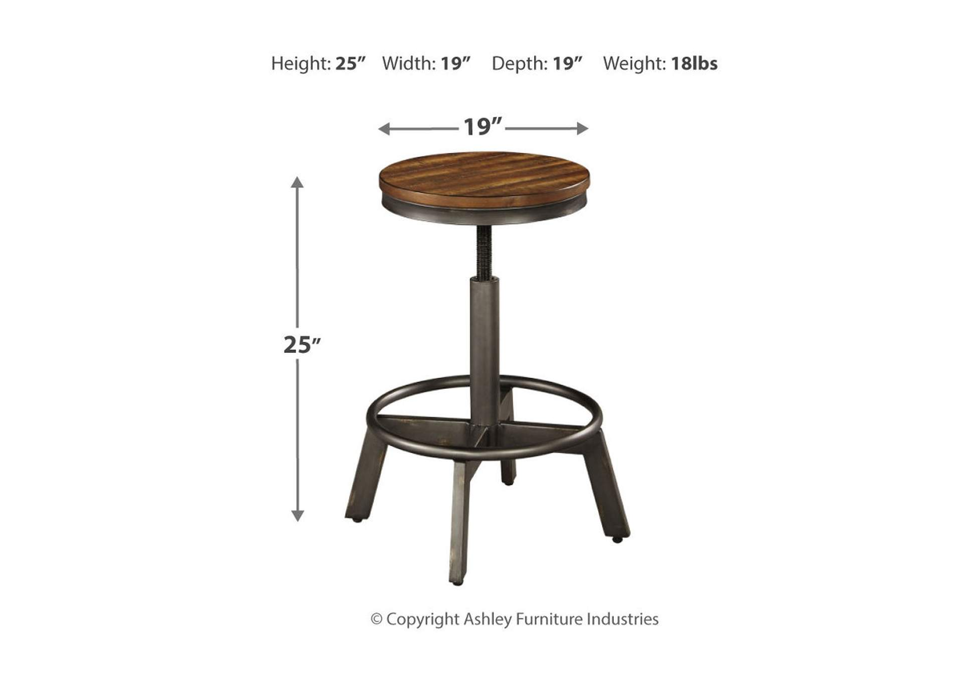 Torjin Adjustable Height Bar Stool (Set of 2),Signature Design By Ashley