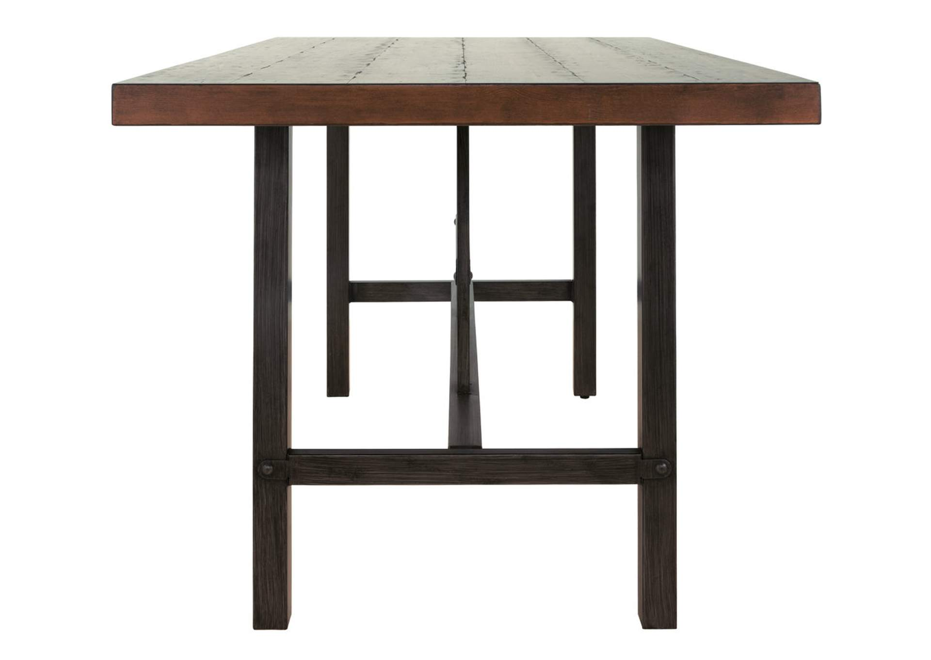 Kavara Medium Brown Rectangular Dining Room Counter Table,Direct To Consumer Express