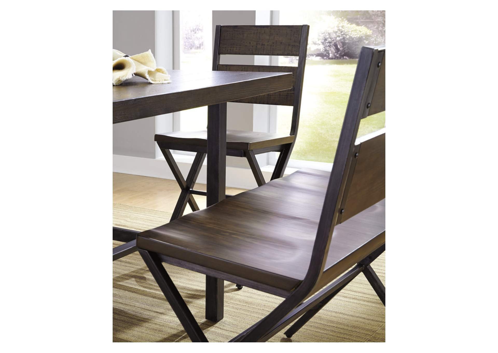 Kavara Medium Brown Double Barstool,Direct To Consumer Express
