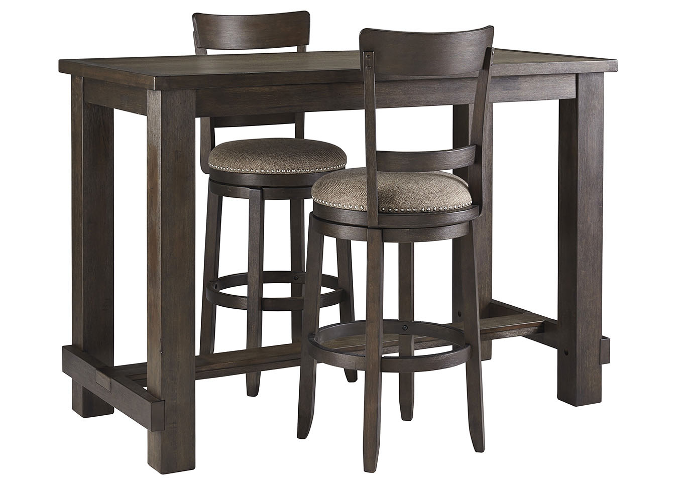 Drewing Brown Bar Table w/2 Upholstered Barstools,Signature Design By Ashley