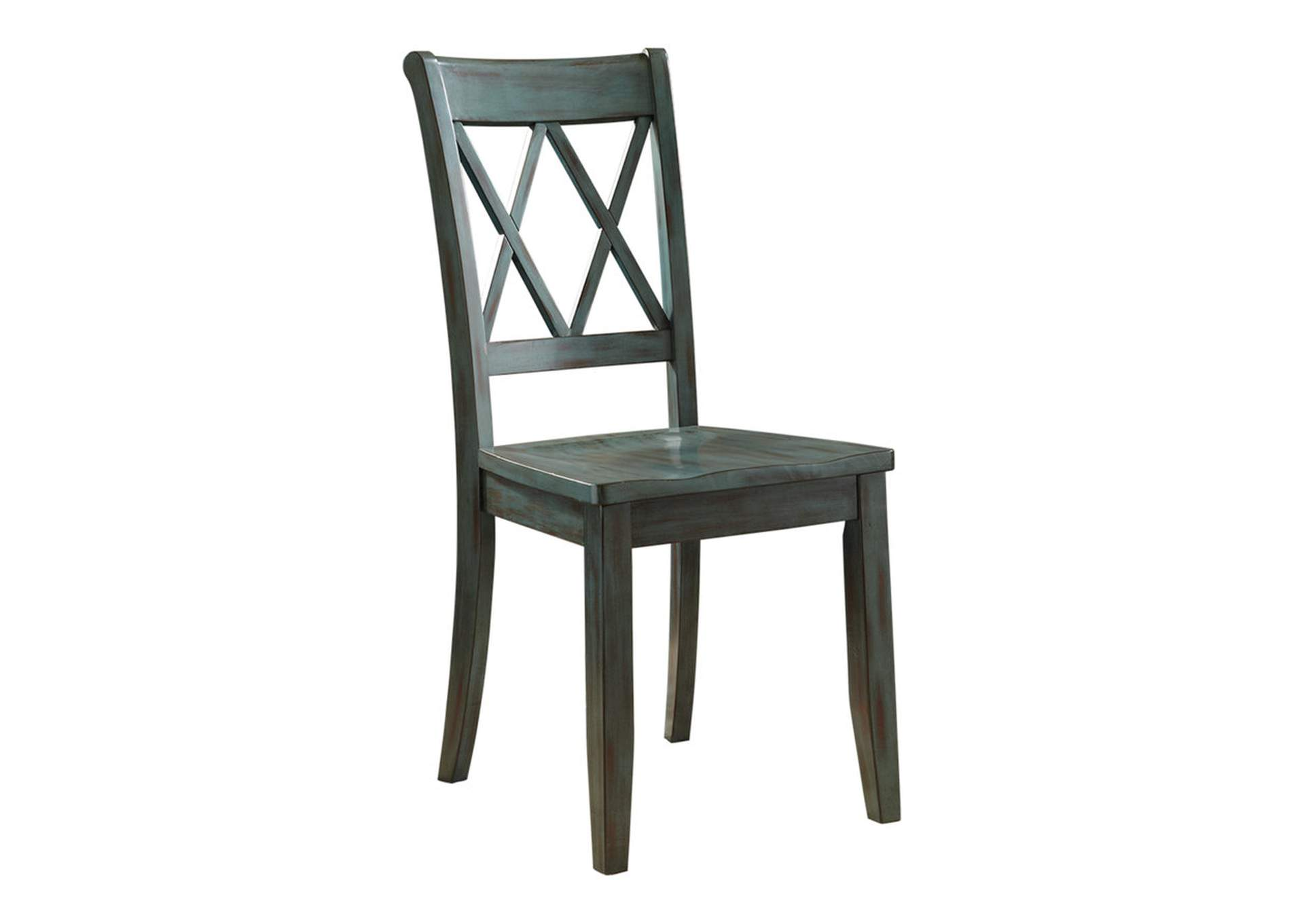 Mestler Antique Blue Side Chair (Set of 2),Direct To Consumer Express