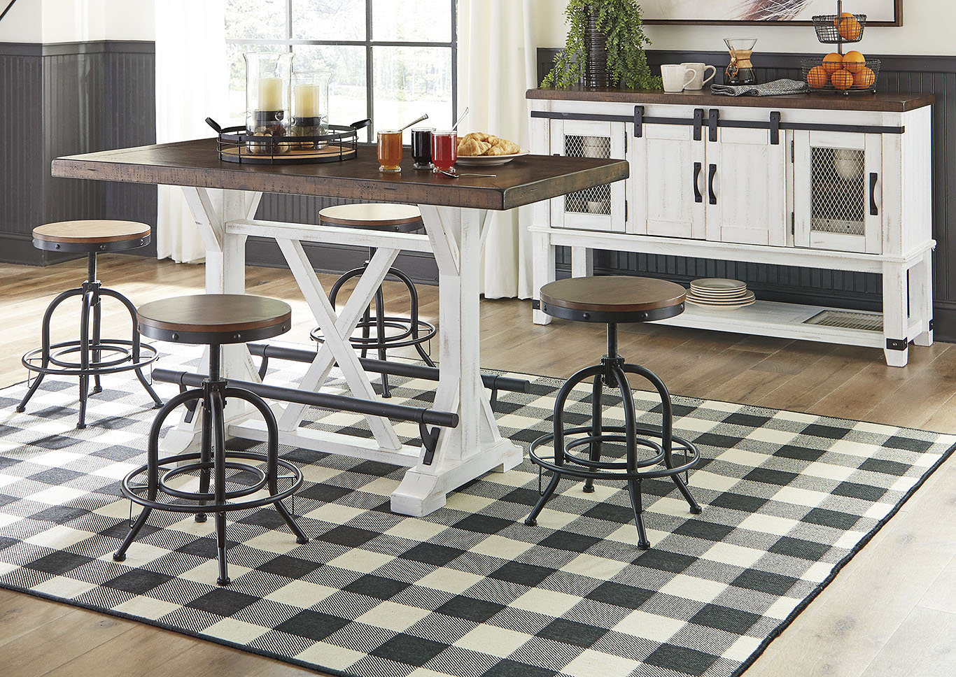 Valebeck Brown Counter Height Dining Table w/4 Counter Height Barstools,Signature Design By Ashley