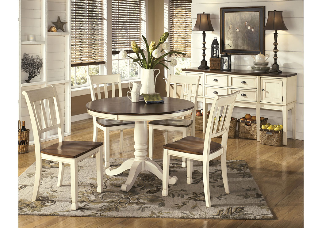 Whitesburg Brown/Cottage White Dining Table,Direct To Consumer Express