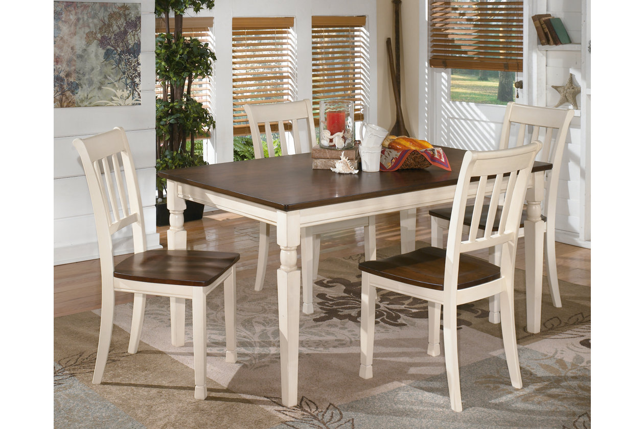 Whitesburg Rectangular Dining Table w/ 4 Side Chairs,Signature Design By Ashley