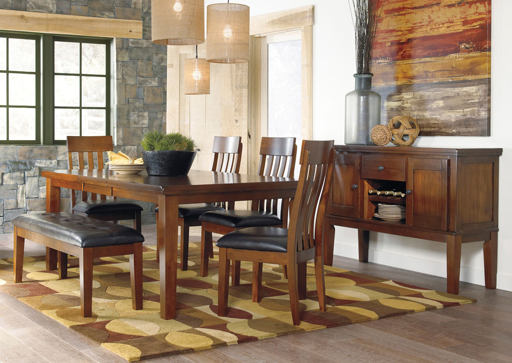 Ralene Rectangular Extension Table w/ 4 Upholstered Side Chairs & Bench,Signature Design By Ashley