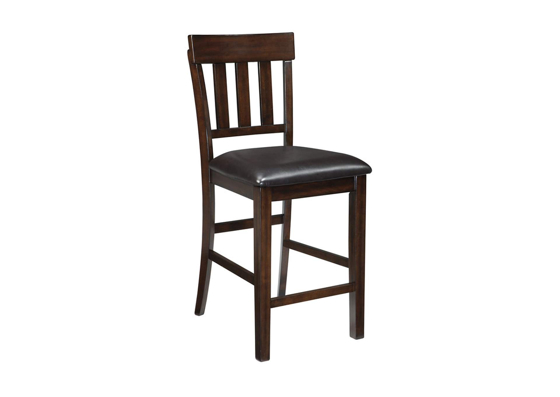 Haddigan Dark Brown Upholstered Barstool (Set of 2),Direct To Consumer Express