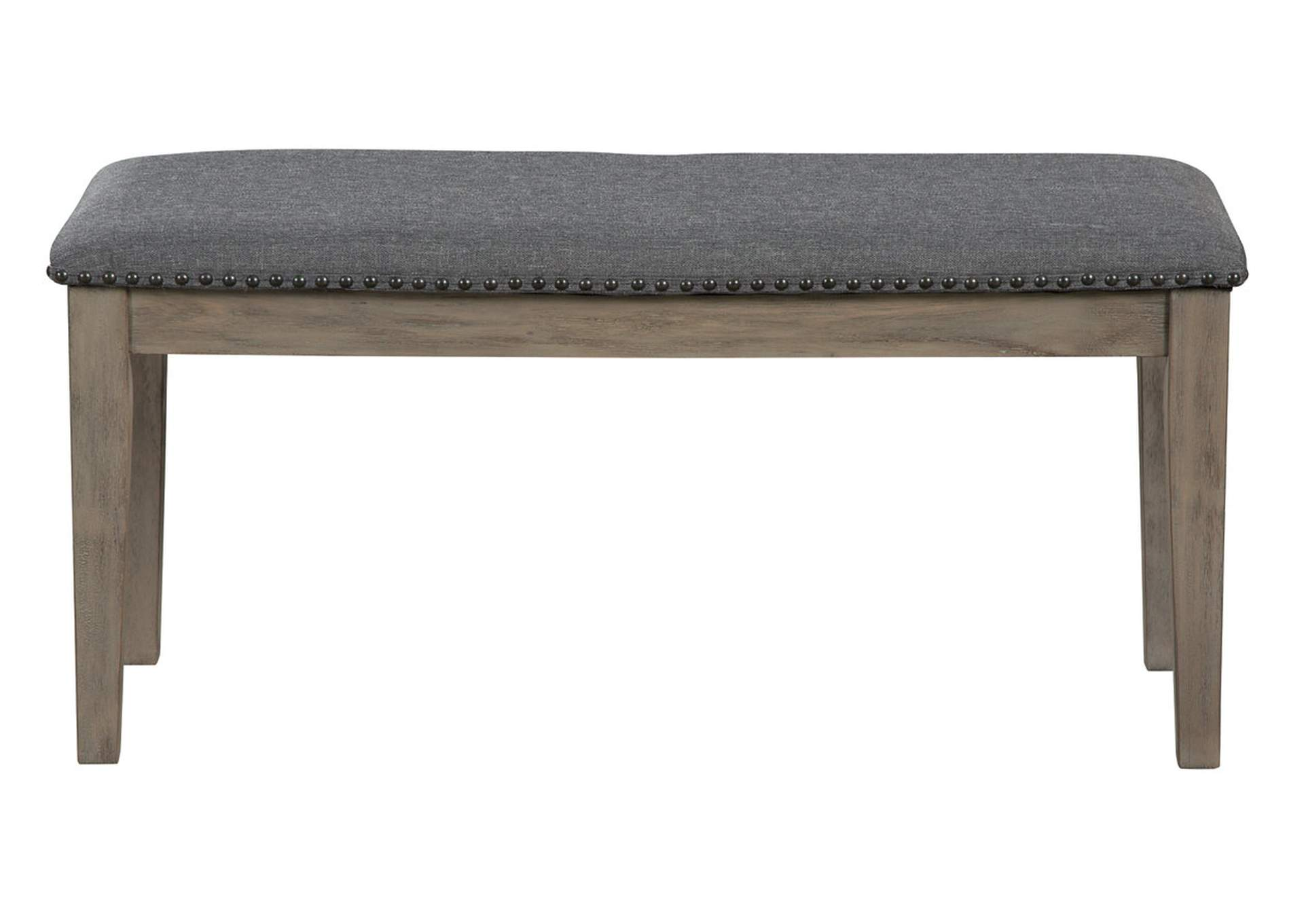 Aldwin Gray Upholstered Bench