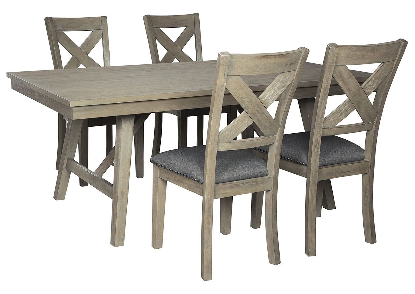 Aldwin Gray Dining Table w/4 Side Chairs,Signature Design By Ashley