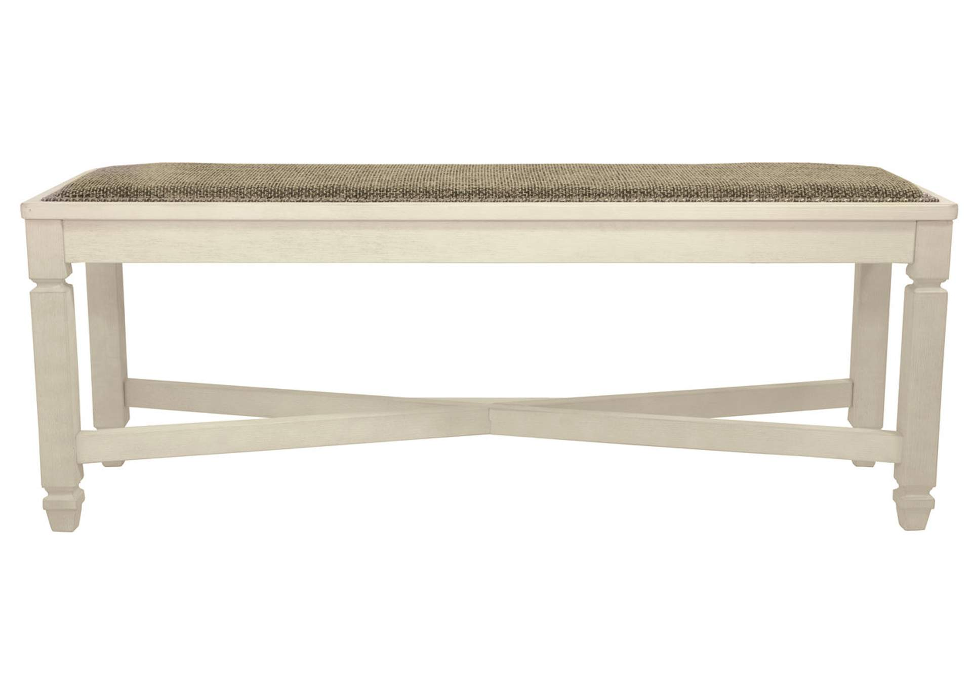 Bolanburg Antique White Large Upholstered Dining Room Bench,Signature Design By Ashley