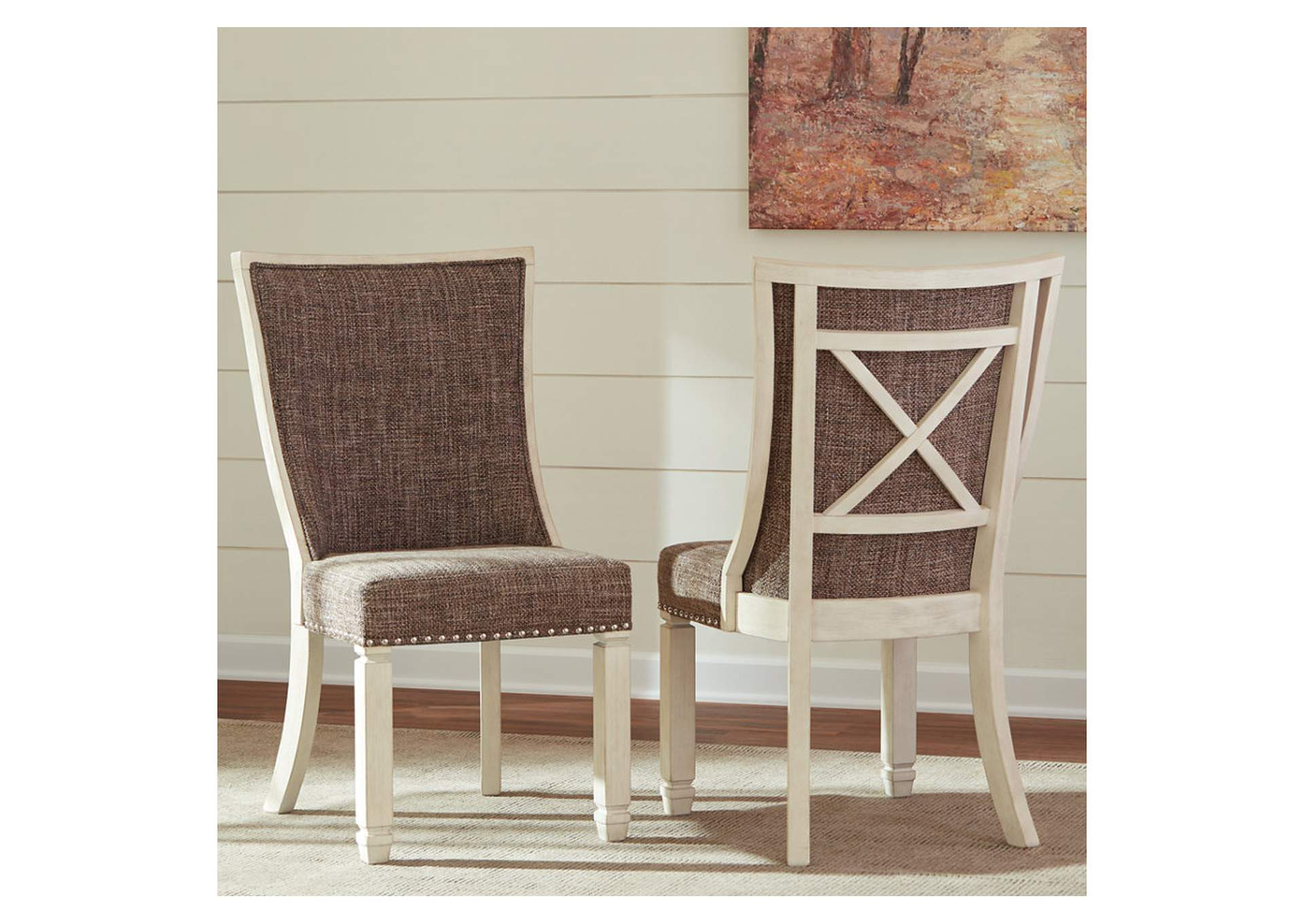 Bolanburg Antique White Dining Upholstered Side Chair (Set of 2),Direct To Consumer Express