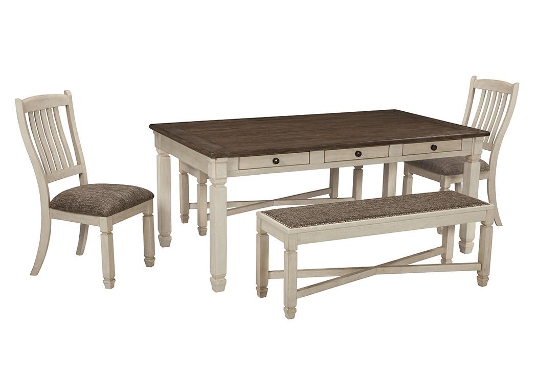 bolanburg antique white rectangular dining room table w2