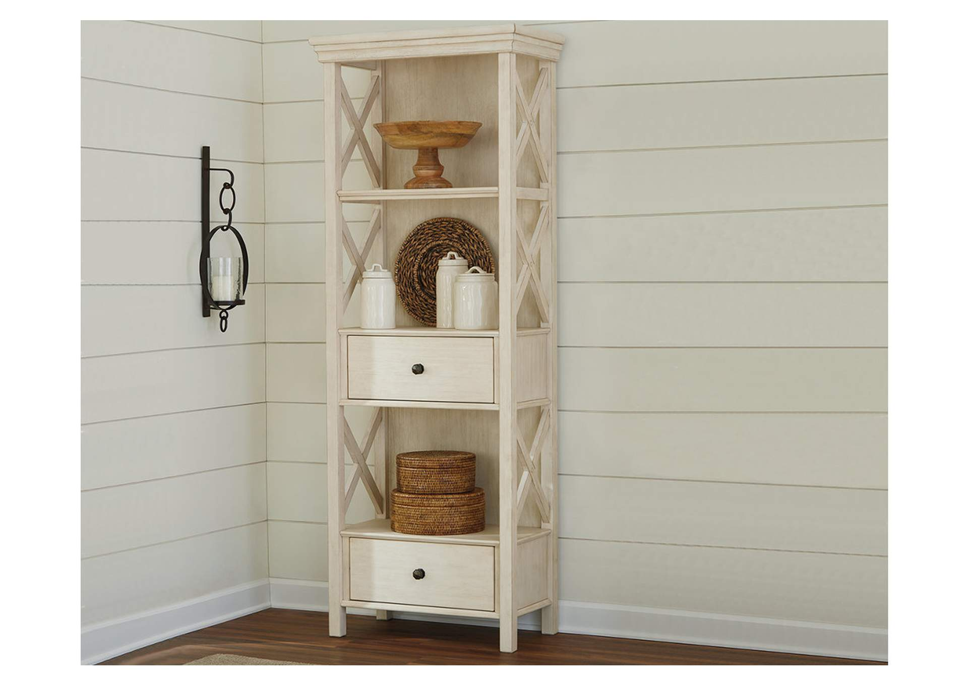 Bolanburg Antique White Display Cabinet,Direct To Consumer Express