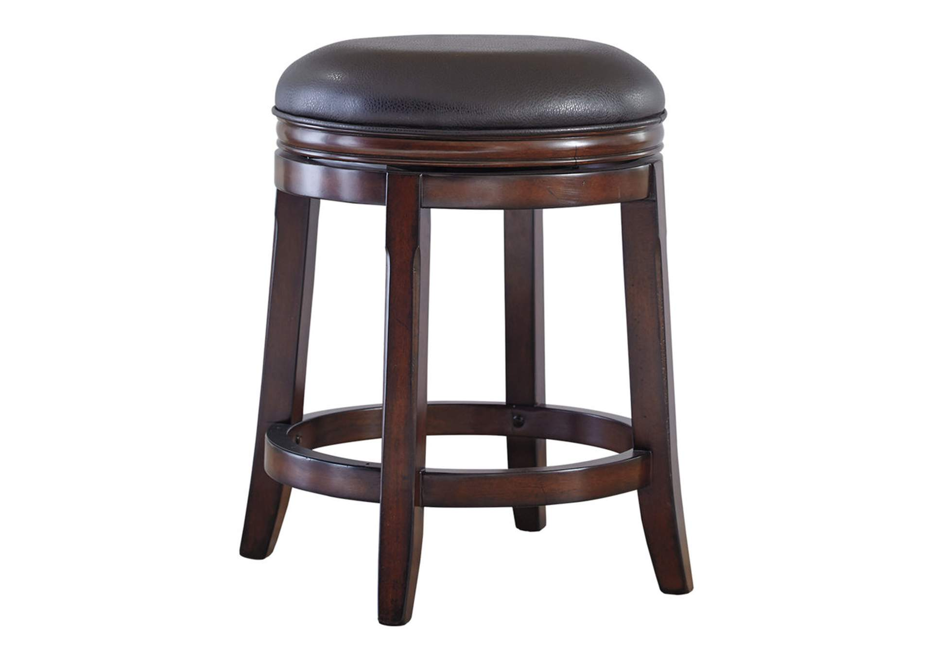 Porter Rustic Brown Upholstered Swivel Stool (Set of 2),Direct To Consumer Express