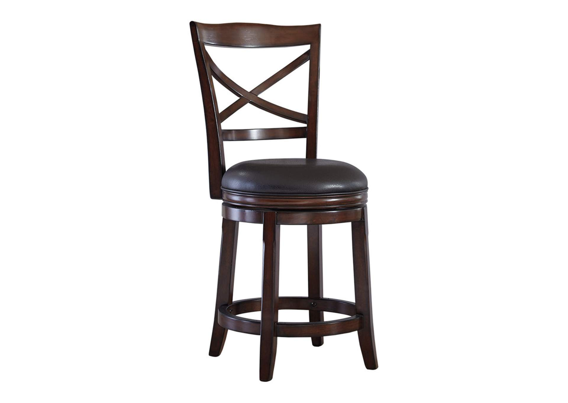 Porter Rustic Brown Upholstered Swivel Barstool (Set of 2),Direct To Consumer Express