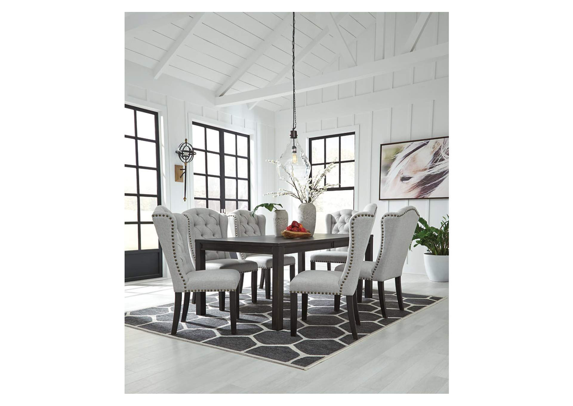 Jeanette 7-Piece Dining Table and Chairs,Ashley