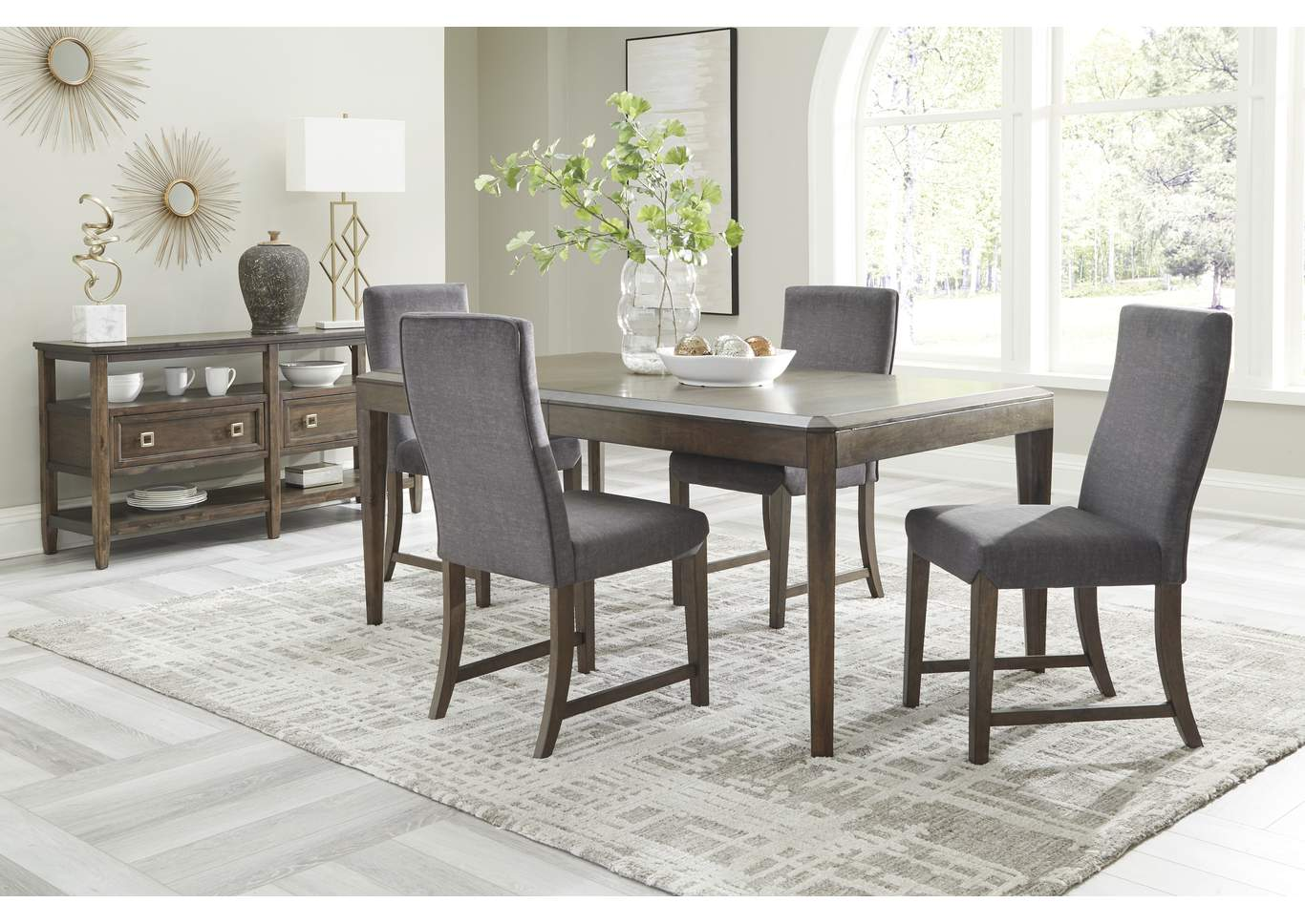 Raehurst 5-Piece Dining Table and Chairs,Ashley