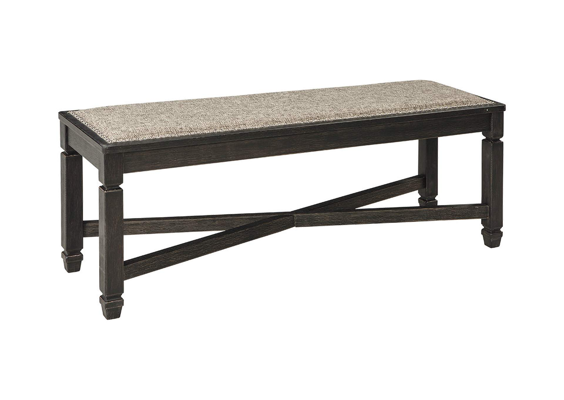 Tyler Creek Black/Grayish Brown Upholstered Dining Bench,Direct To Consumer Express