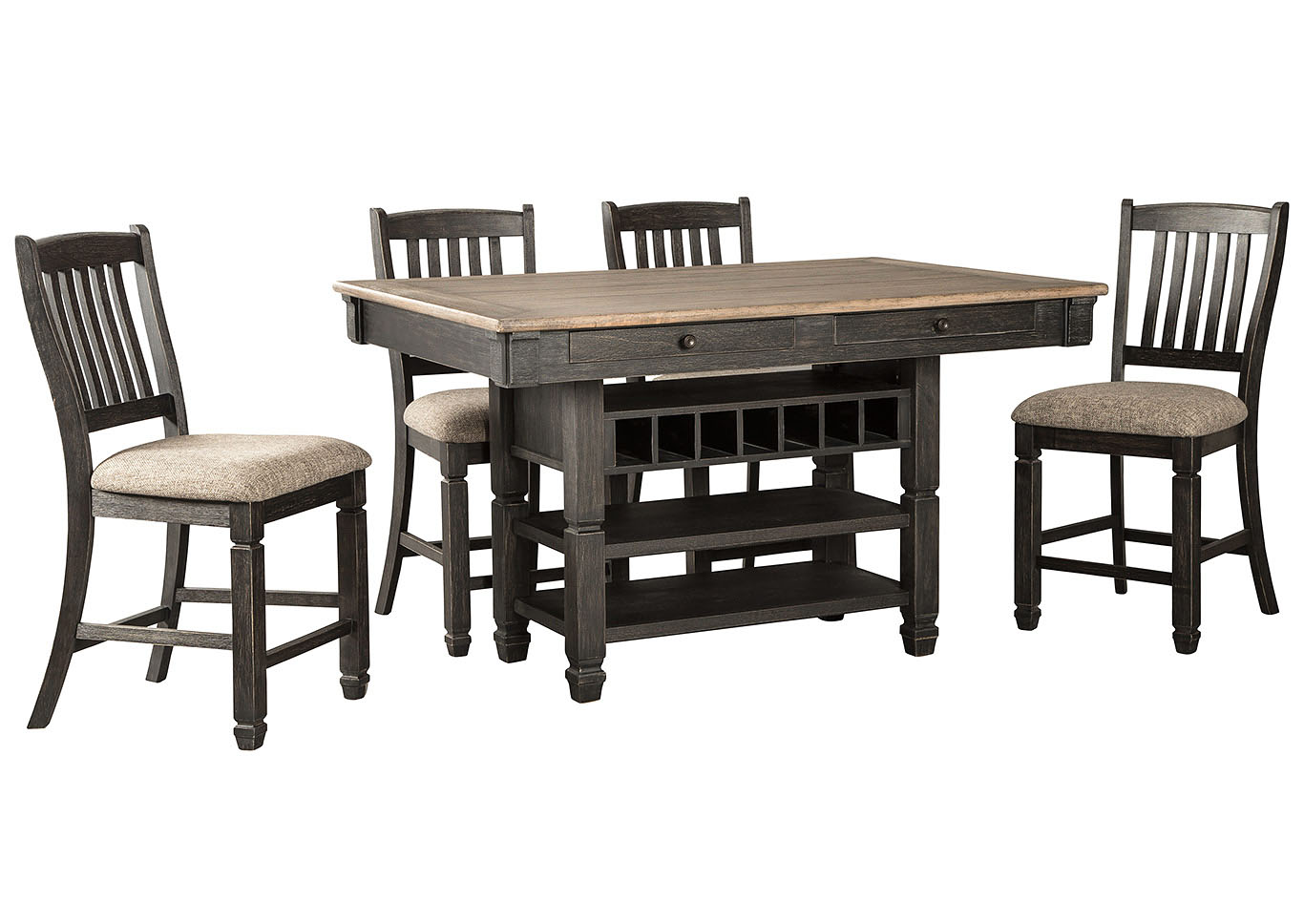 Tyler Creek Counter Height Dining Table and 4 Counter Stools,Signature Design By Ashley