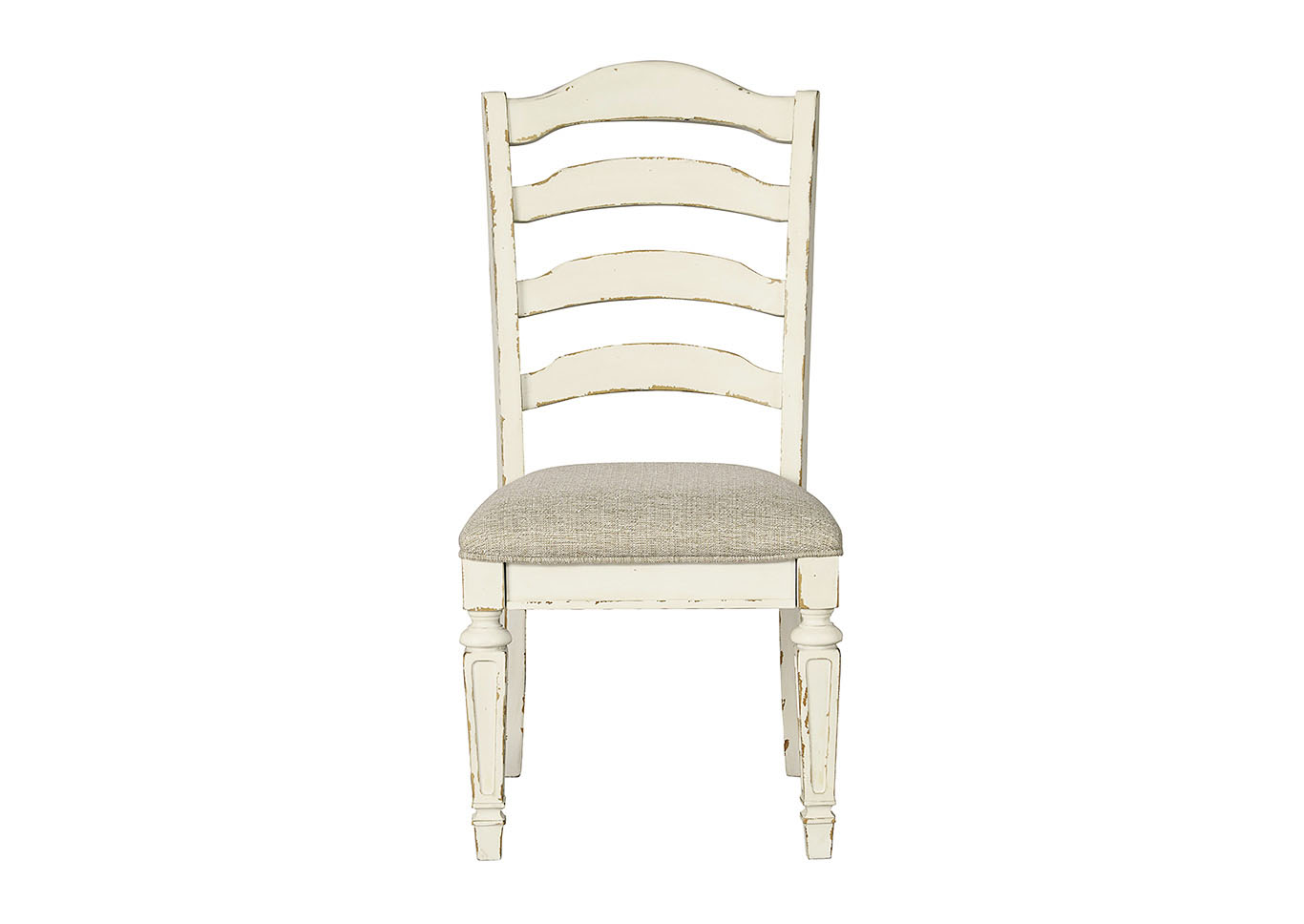 Realyn Chipped White Upholstered Dining Side Chair (Set of 2),Direct To Consumer Express