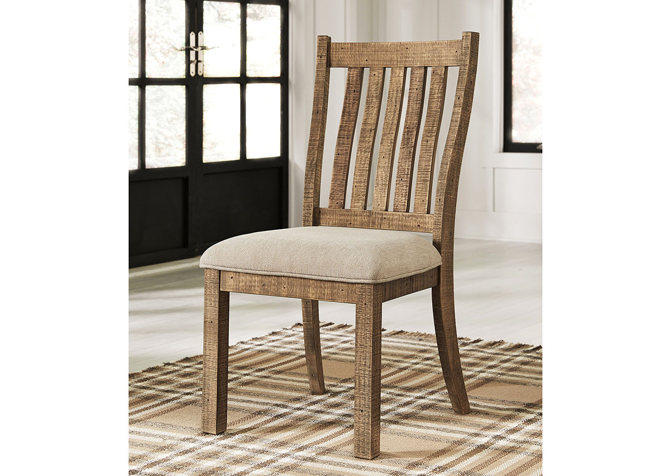 Grindleburg Light Brown Upholstered Side Chair (Set of 2),Direct To Consumer Express
