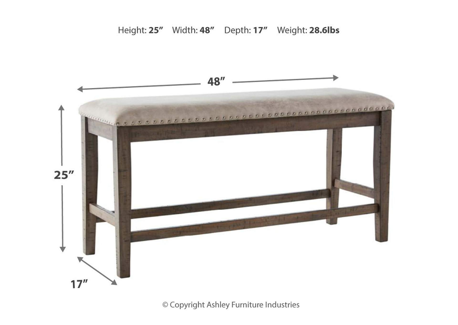 Johurst Counter Height Dining Room Bench,Benchcraft