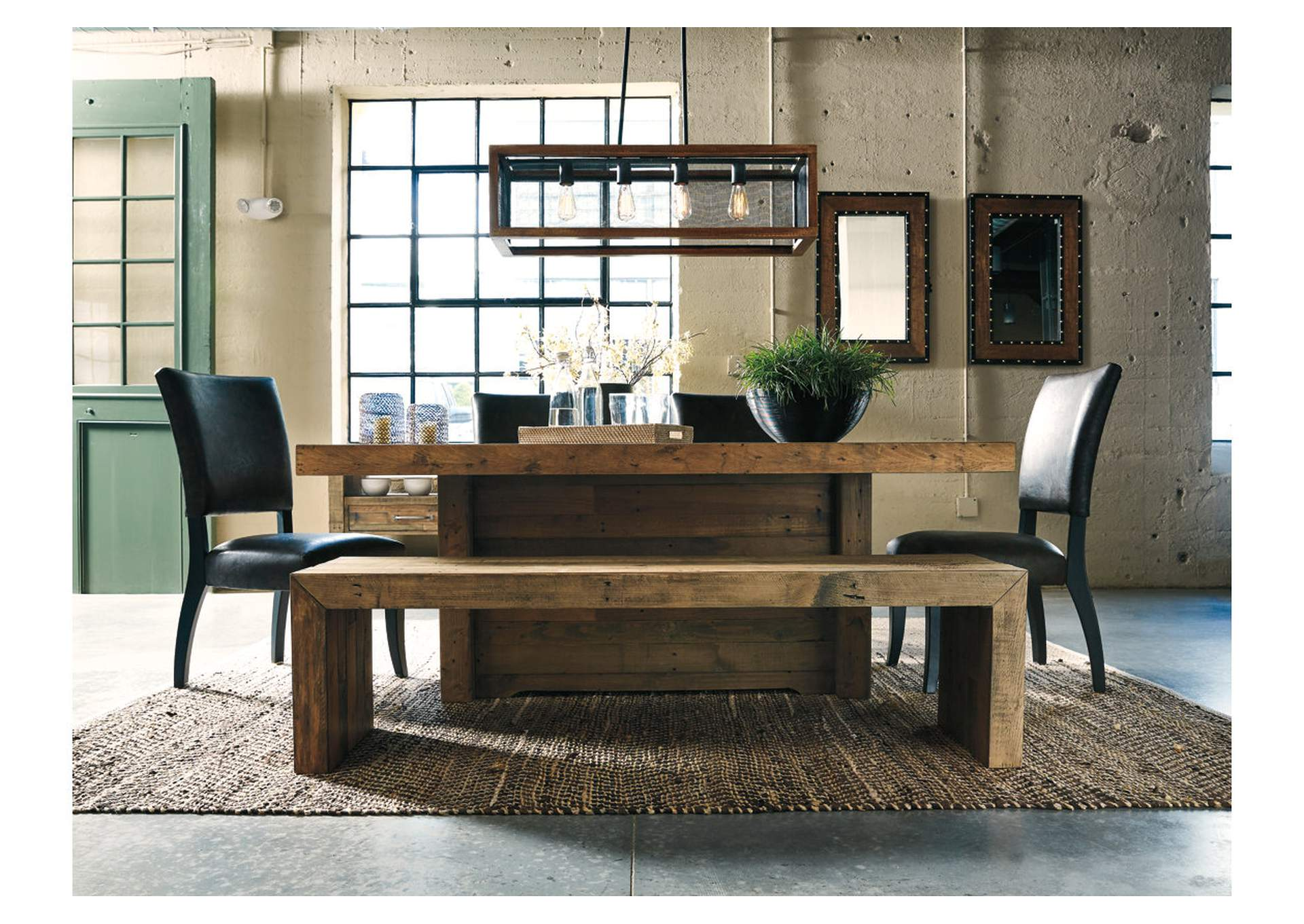 Sommerford Brown Large Dining Room Bench,Direct To Consumer Express