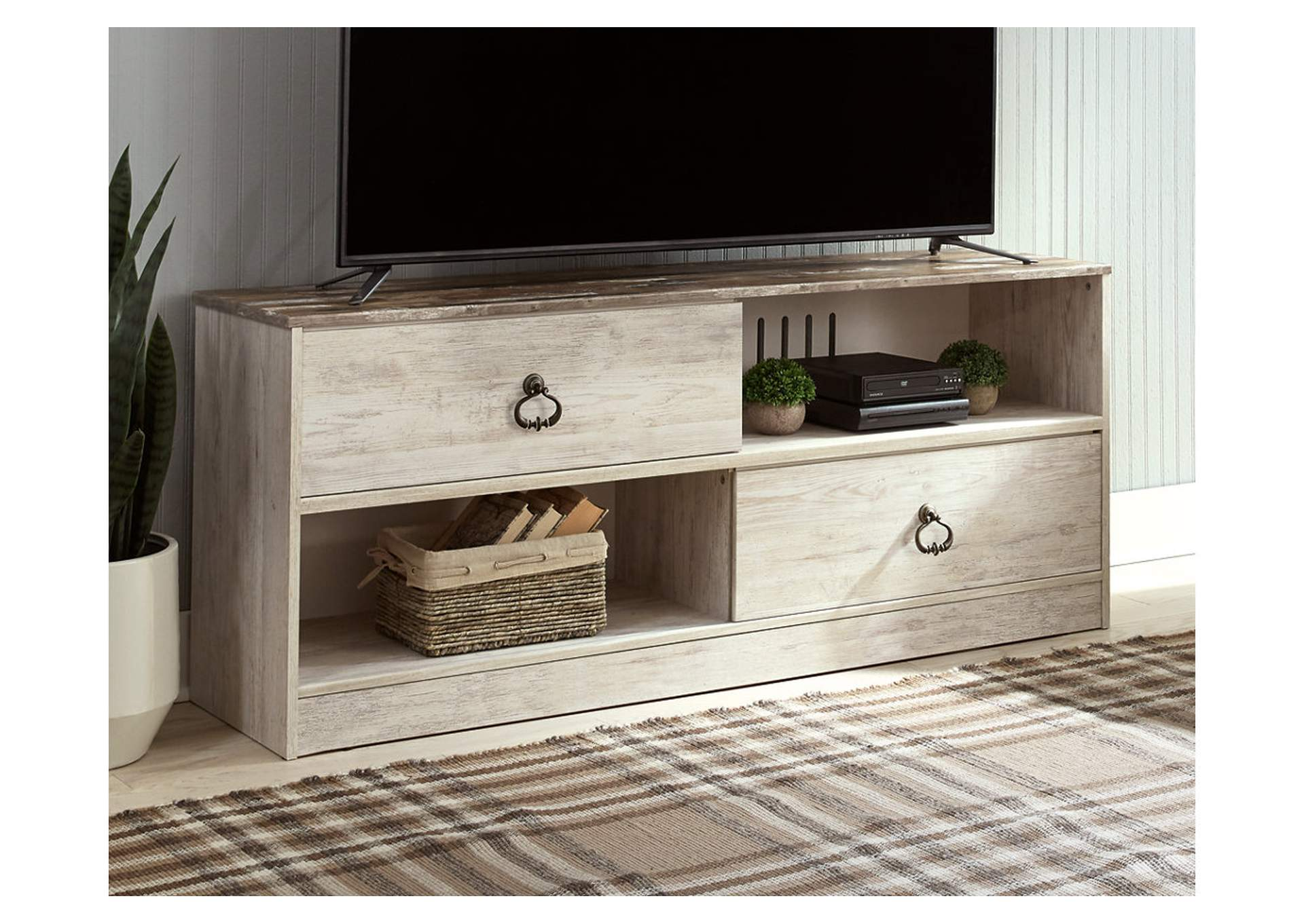 "Willowton Whitewash 54"" TV Stand,Signature Design By Ashley"