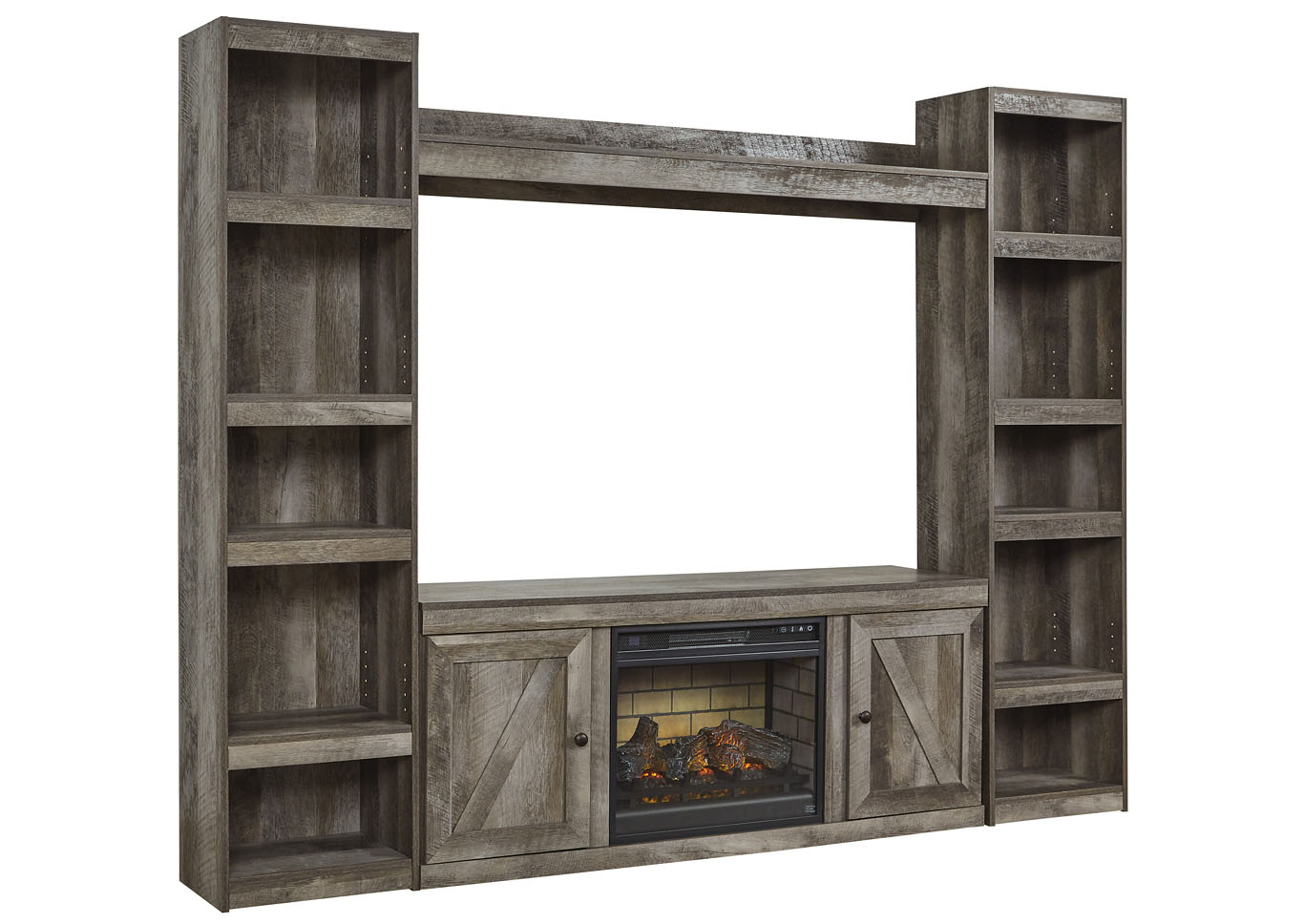 Wynnlow Gray Entertainment Center w/Fireplace Insert Infrared,Signature Design By Ashley