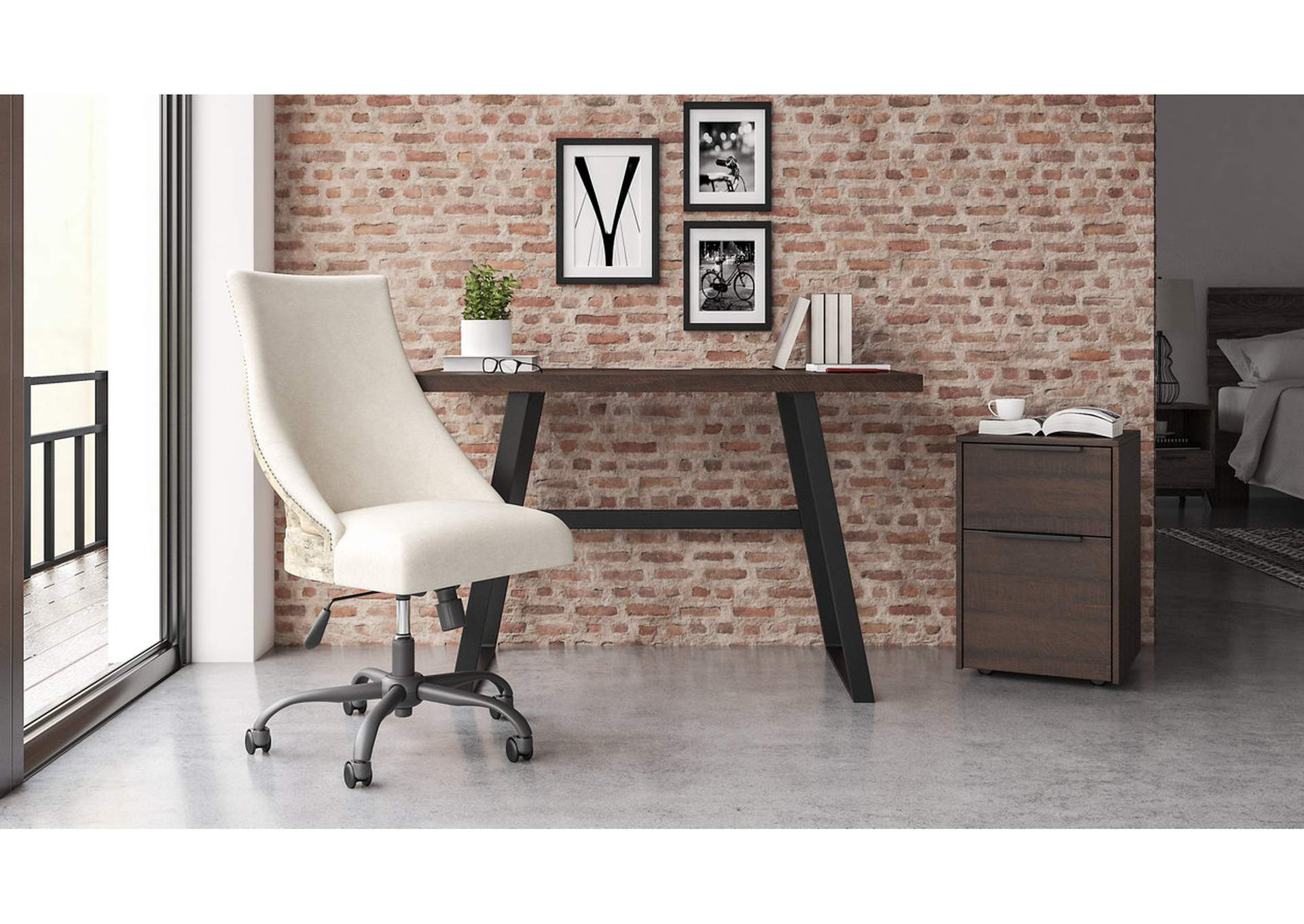 "Camiburg Warm Brown 47"" Home Office Desk,Signature Design By Ashley"