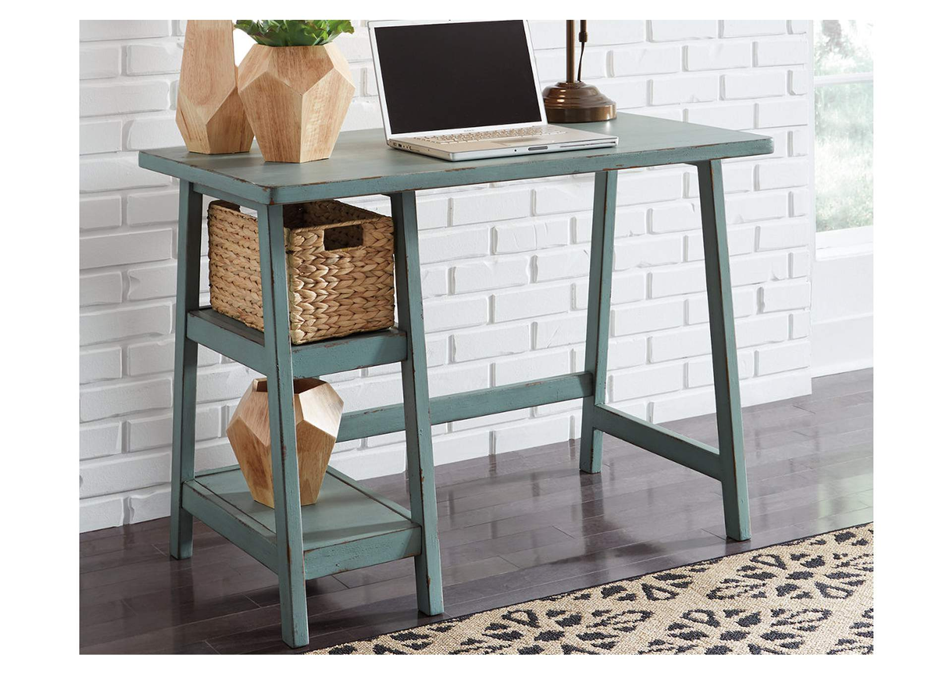 Mirimyn Teal Home Office Small Desk,Direct To Consumer Express