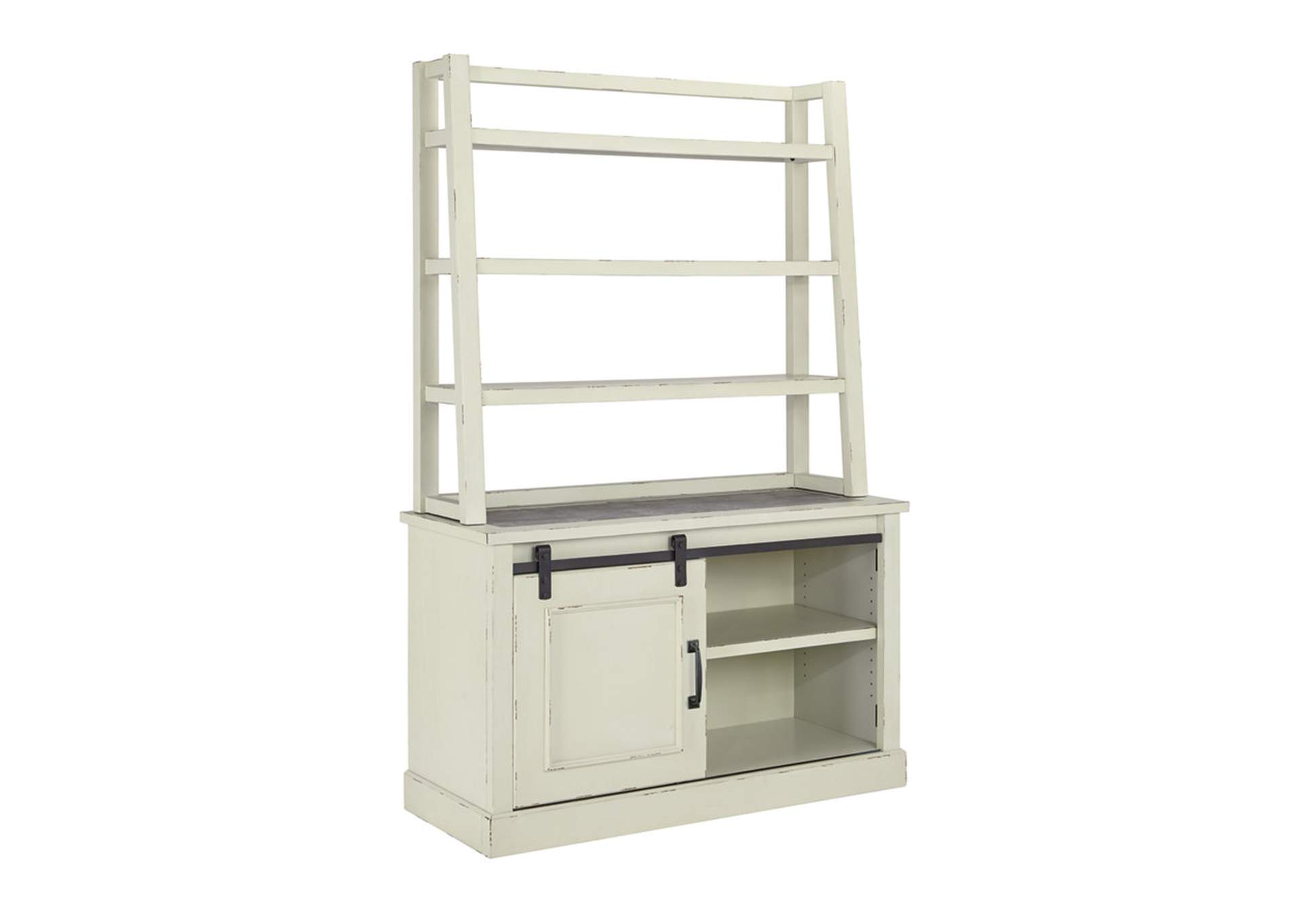 Jonileene White/Gray Home Office Cabinet w/Hutch,Signature Design By Ashley
