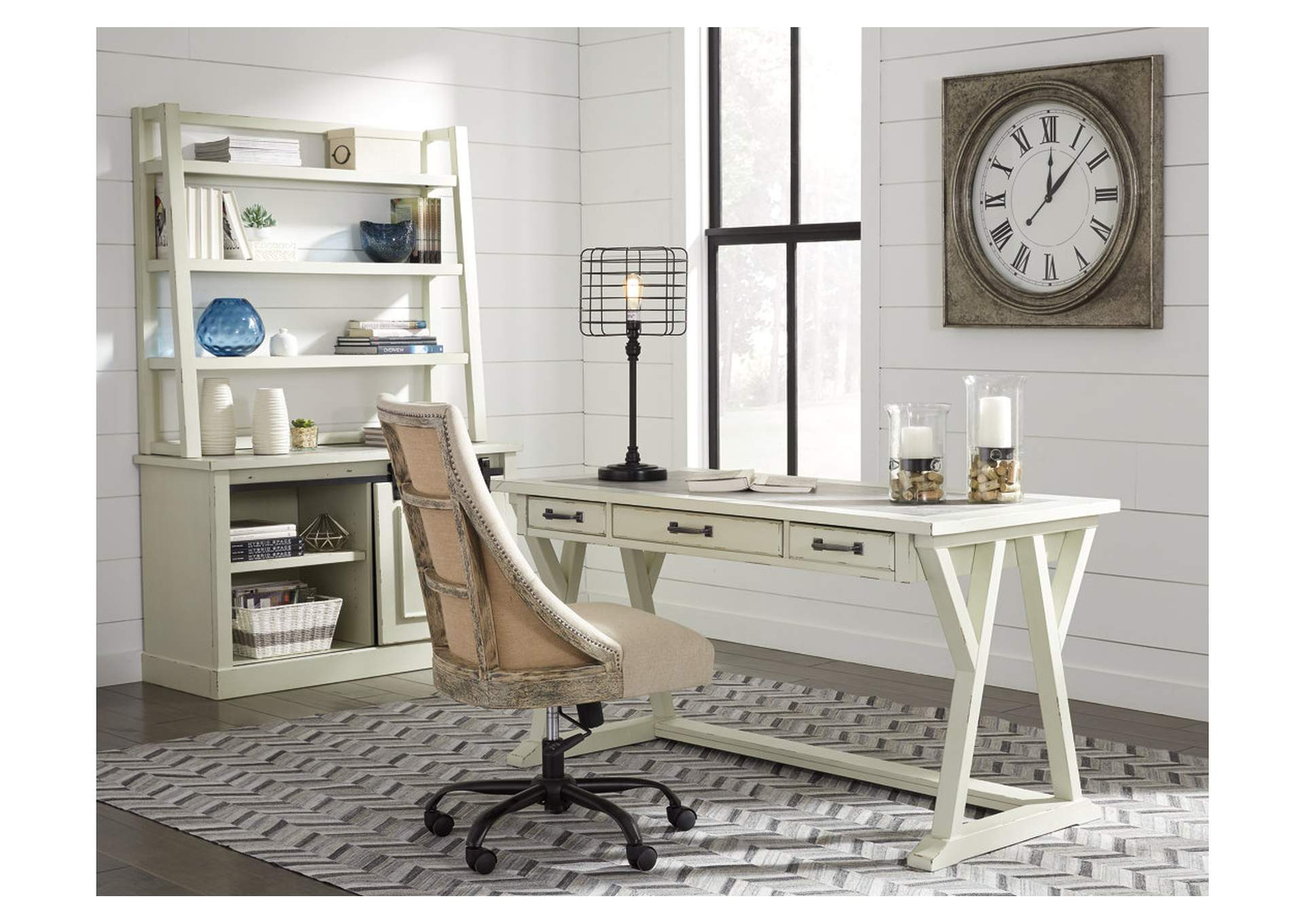 Jonileene White/Gray Home Office Large Leg Desk,Signature Design By Ashley