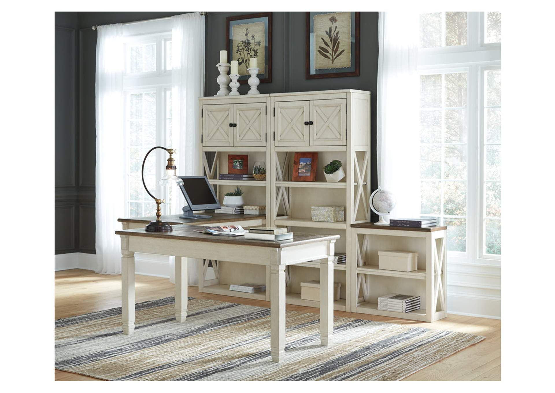 Bolanburg Two-Tone Home Office Desk,Direct To Consumer Express