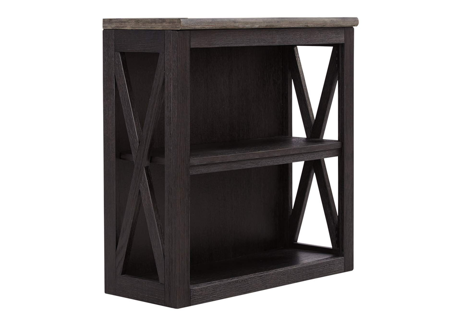 Tyler Creek Grayish Brown/Black Medium Bookcase,Direct To Consumer Express