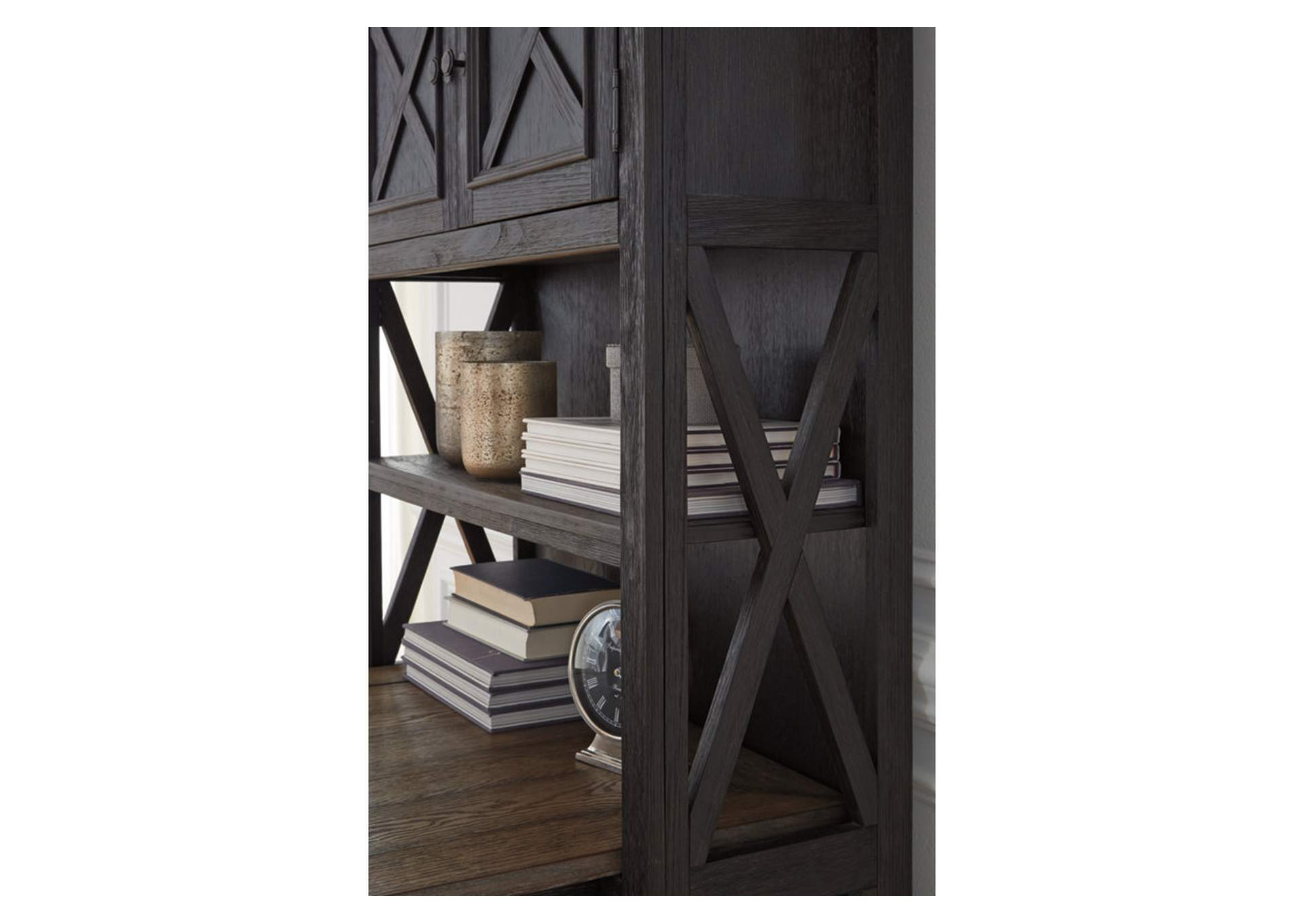 Tyler Creek Grayish Brown/Black Large Bookcase,Signature Design By Ashley