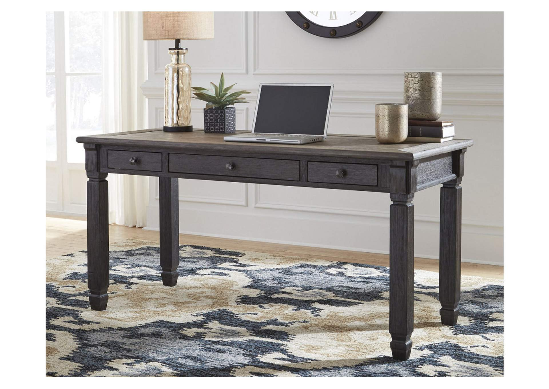 Tyler Creek Gray/Brown Home Office Desk,Signature Design By Ashley