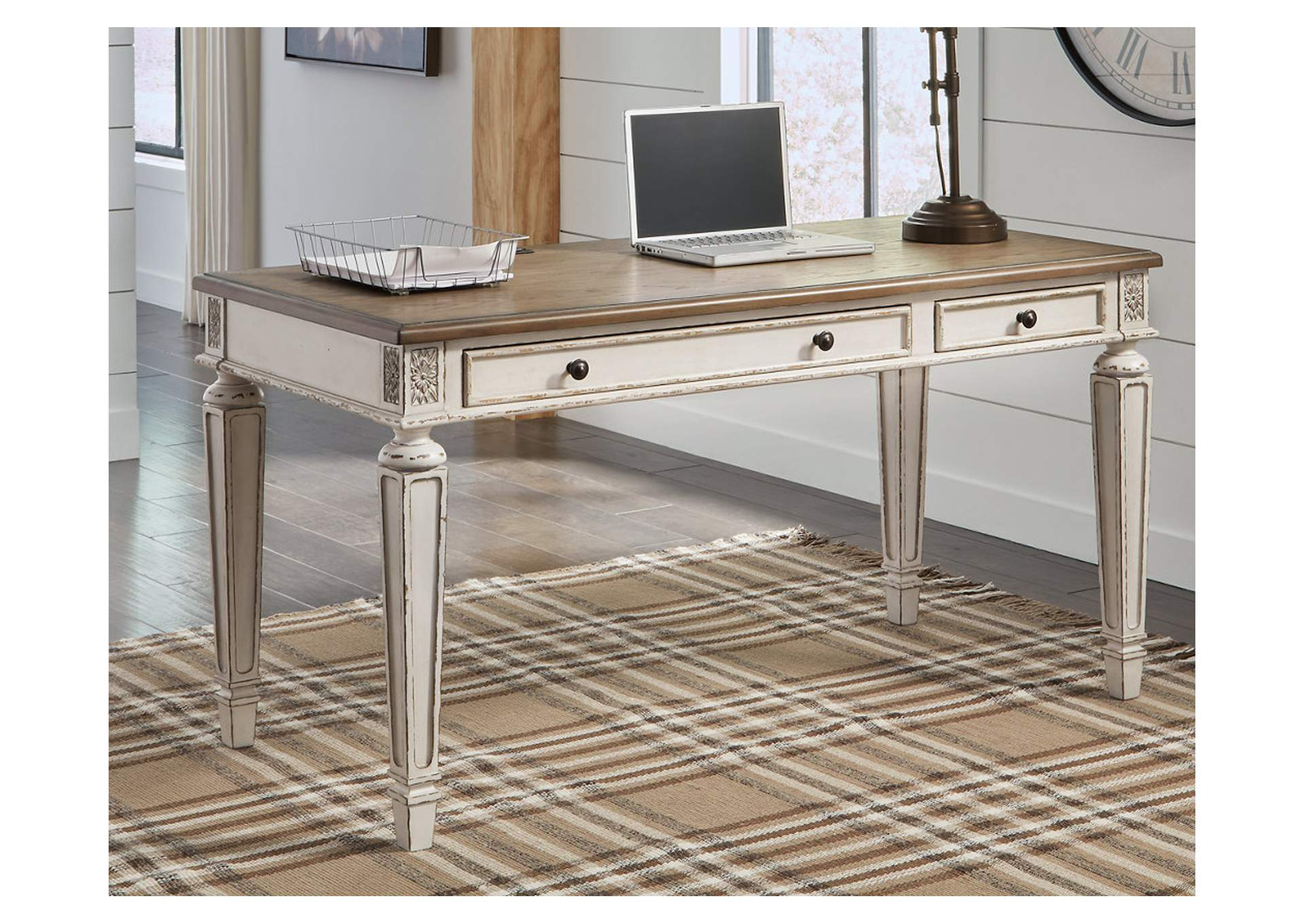 "Realyn Brown 60"" Home Office Desk,Signature Design By Ashley"