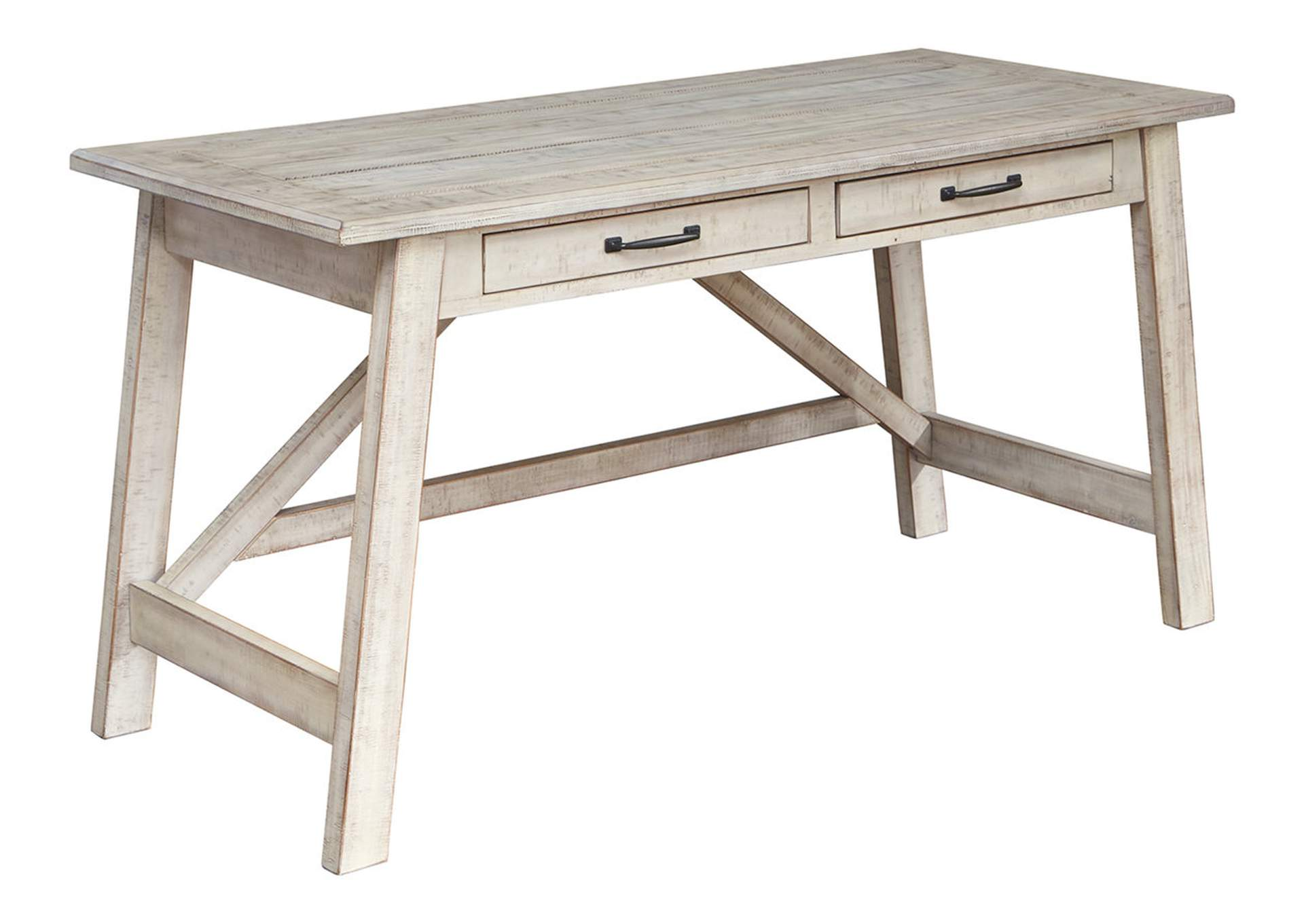 Image of: Carynhurst Whitewash 60 Office Desk Best Buy Furniture And Mattress