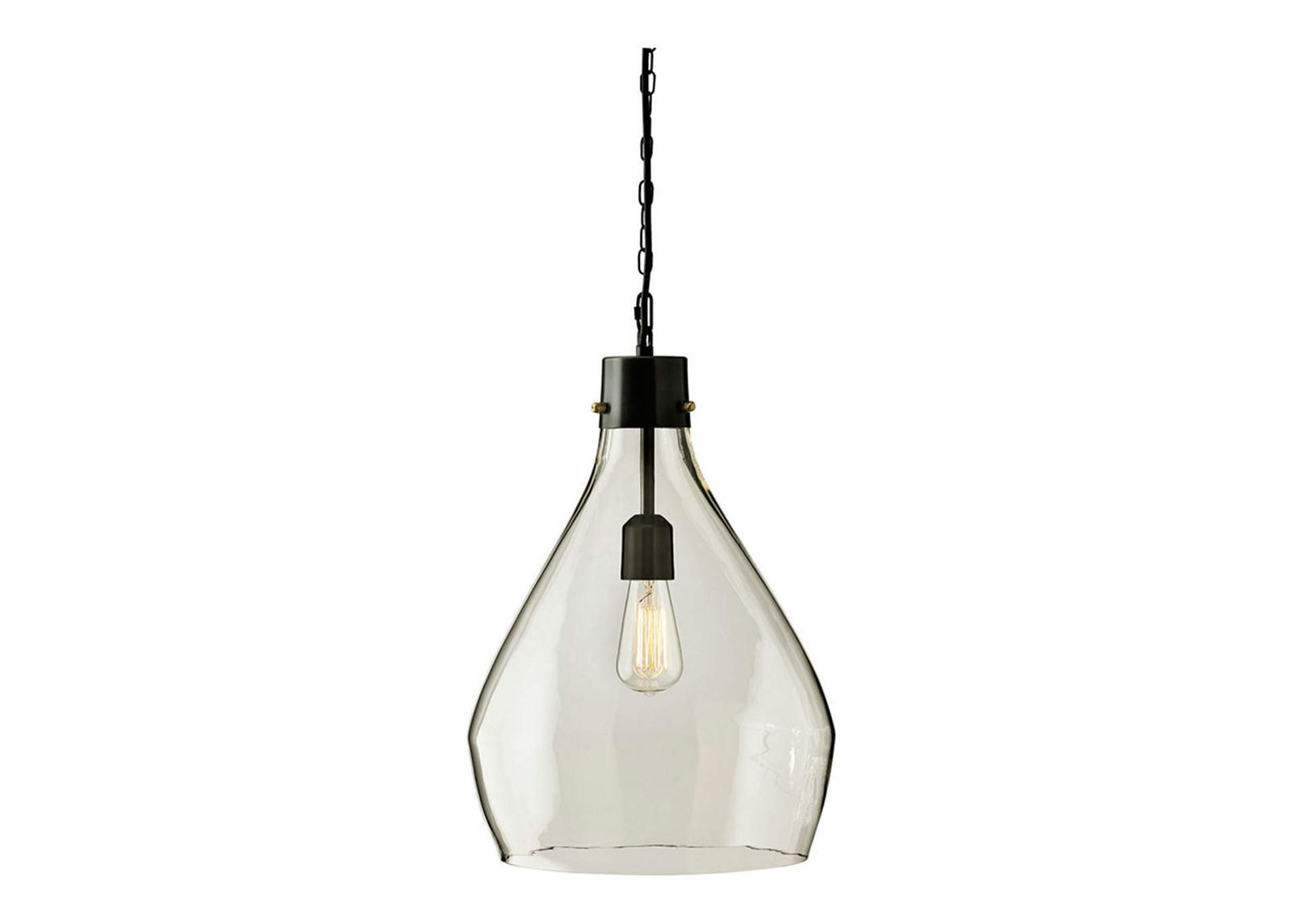 Avalbane Clear/Gray Glass Pendant Light,Signature Design By Ashley