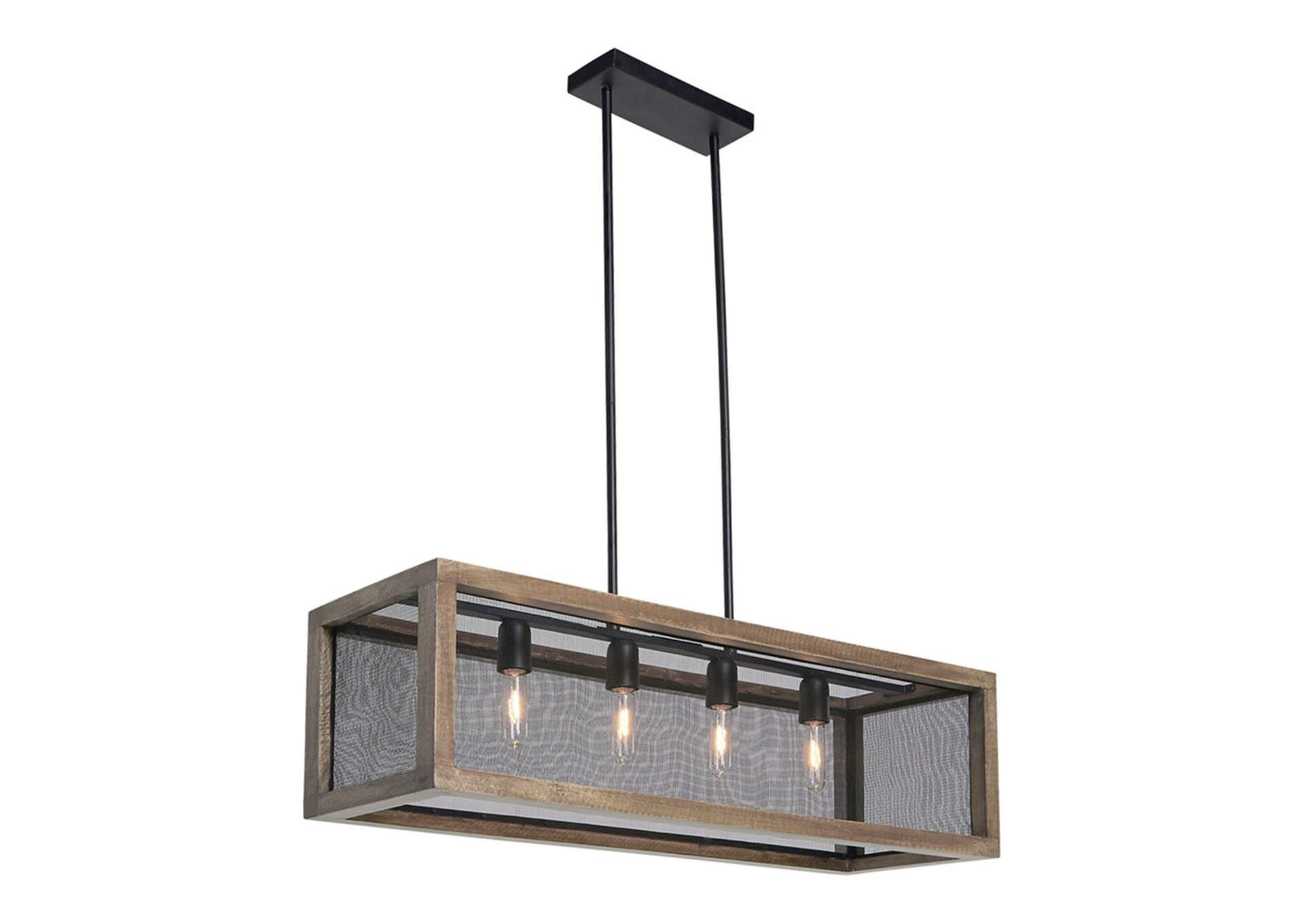 Jodene Brown/Black Wood Pendant Light,Direct To Consumer Express