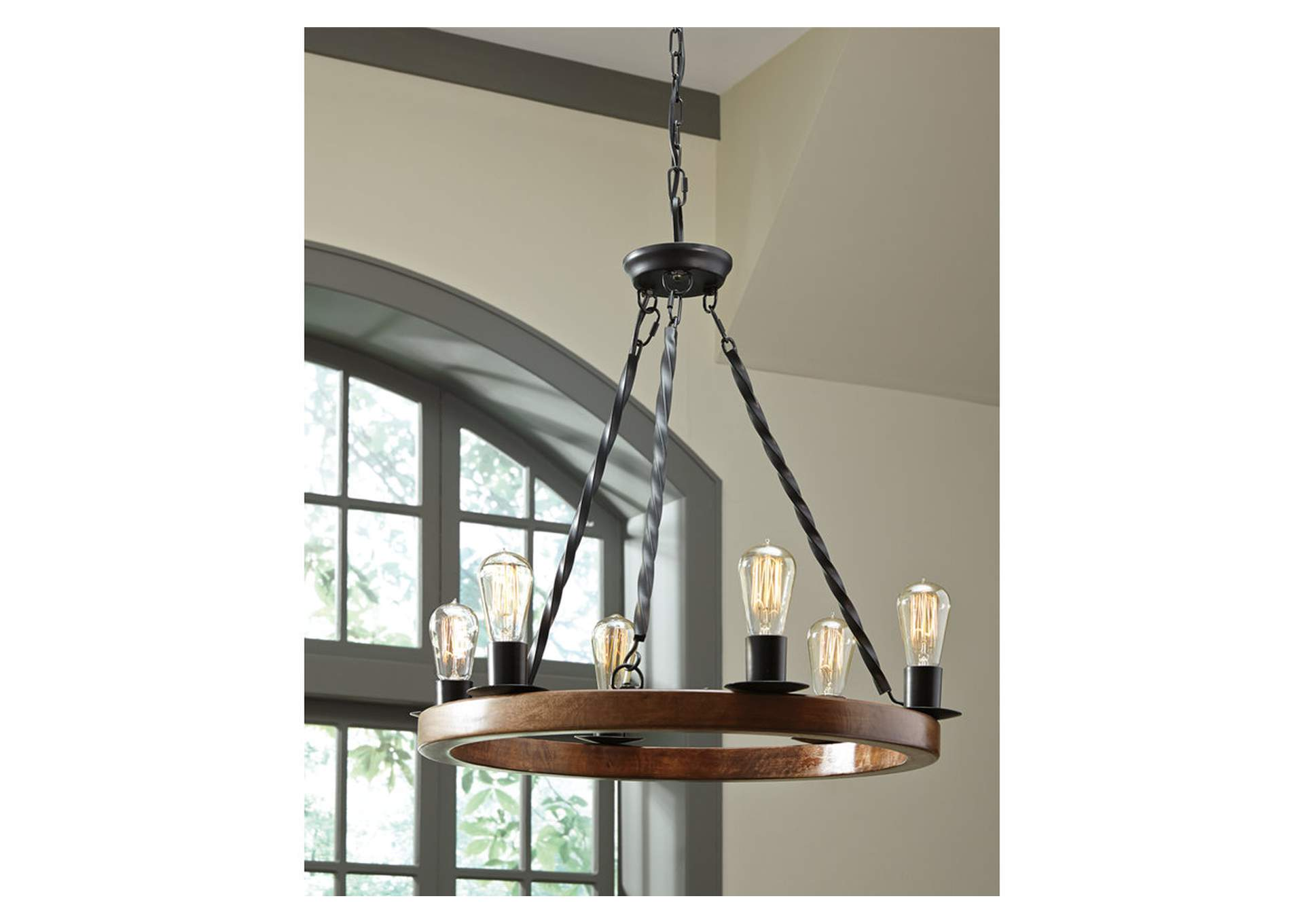 Plato Brown/Black Wood Pendant Light,Direct To Consumer Express