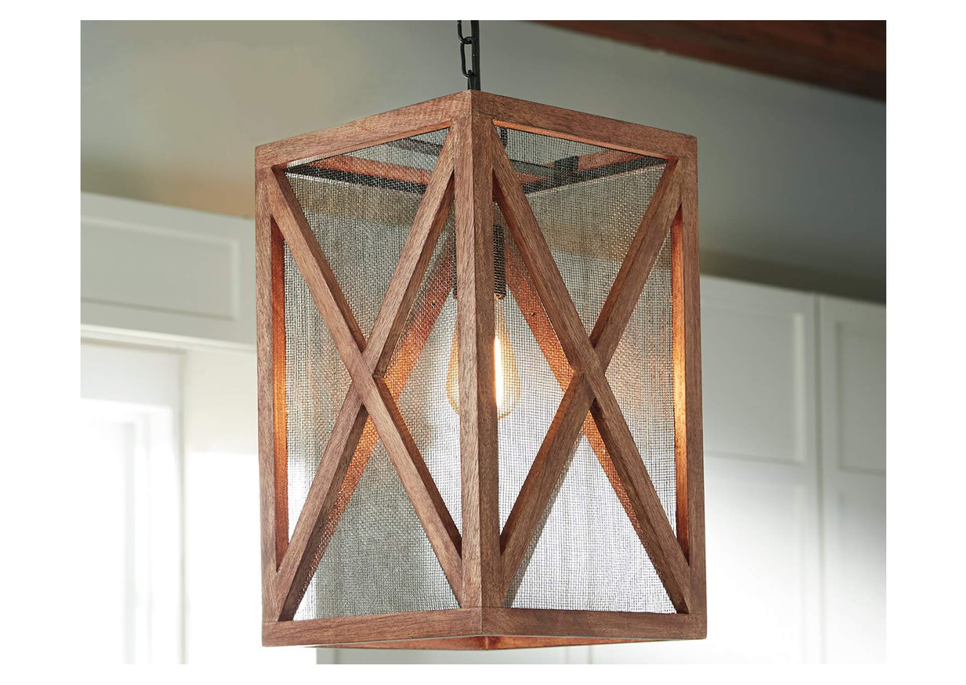 Jodene Brown Wood Pendant Light,Direct To Consumer Express