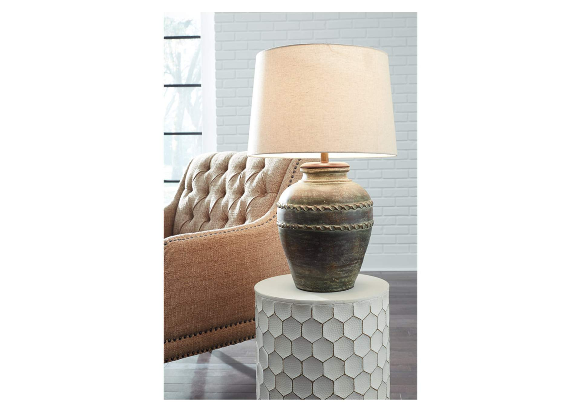 Mairead Green Terracotta Table Lamp,Signature Design By Ashley