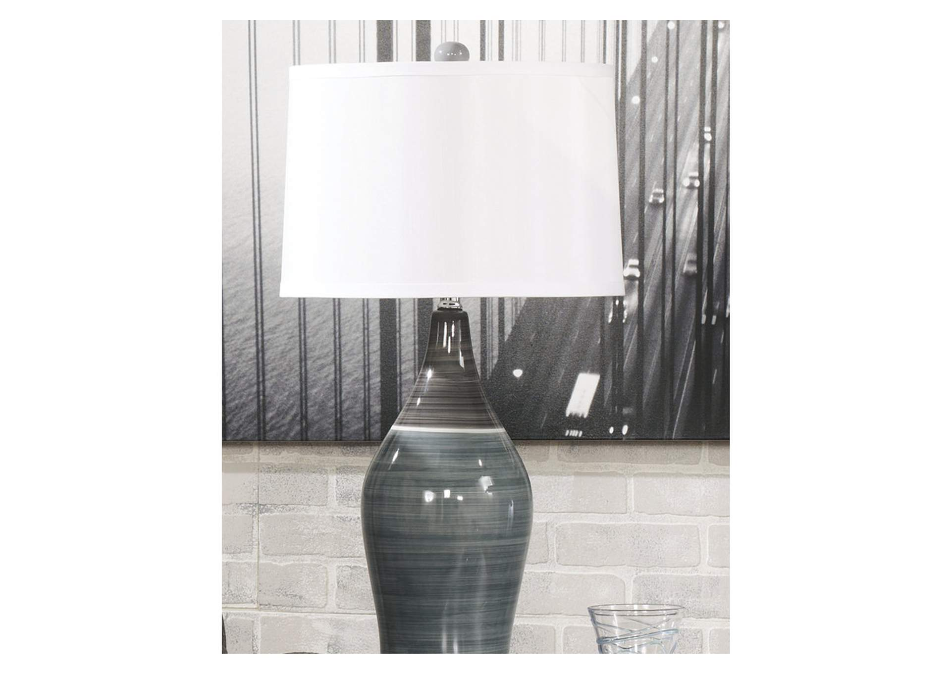 Multi Gray Niobe Ceramic Table Lamp (Set of 2),Direct To Consumer Express