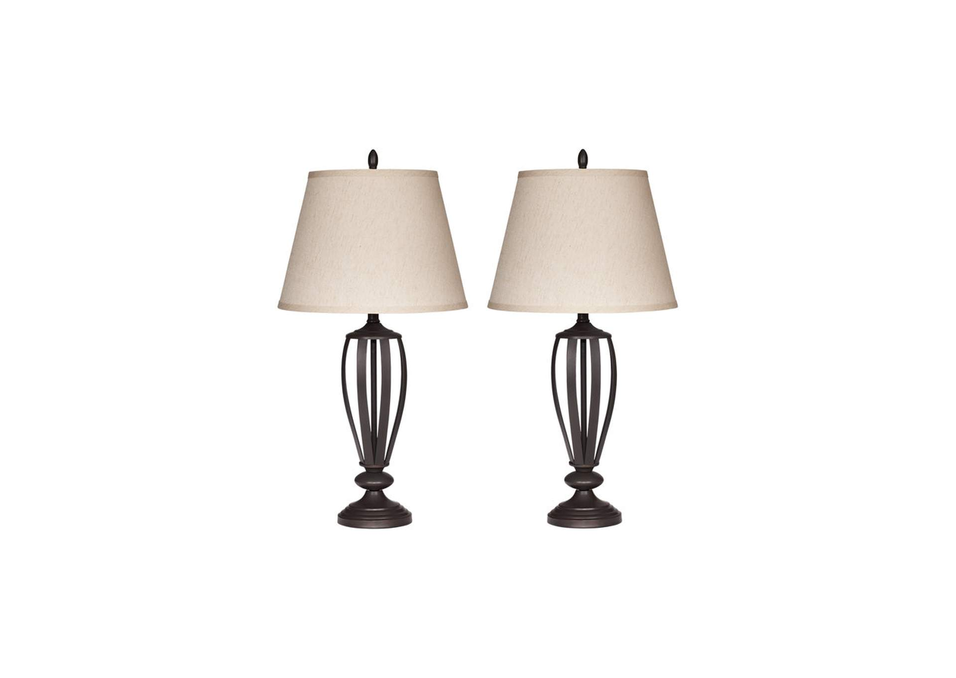 Mildred Bronze Metal Table Lamp (Set of 2),Signature Design By Ashley