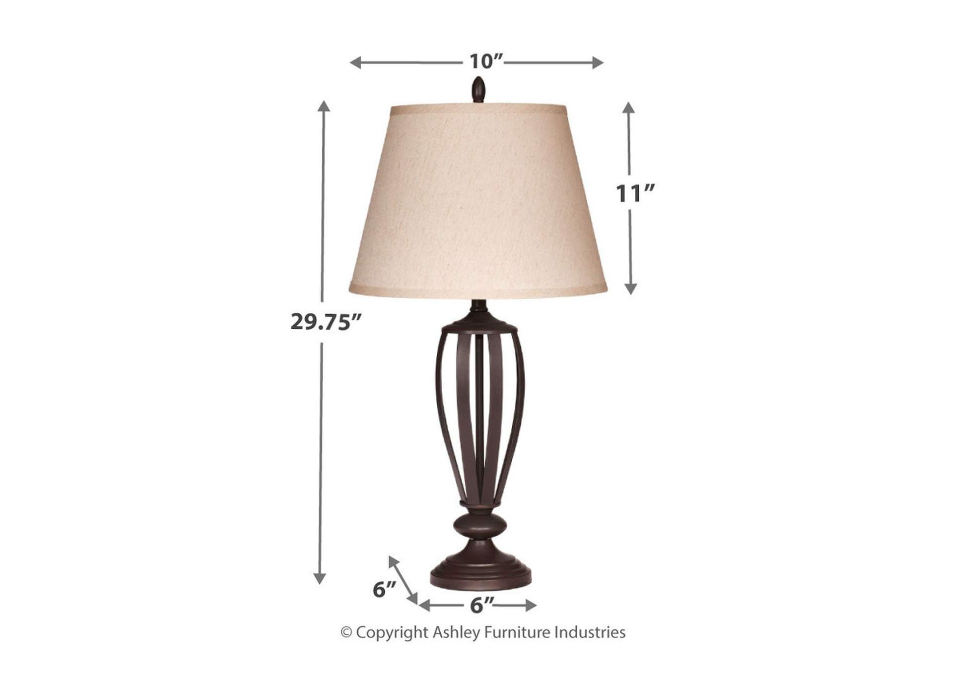 Mildred Bronze Metal Table Lamp (Set of 2),Direct To Consumer Express