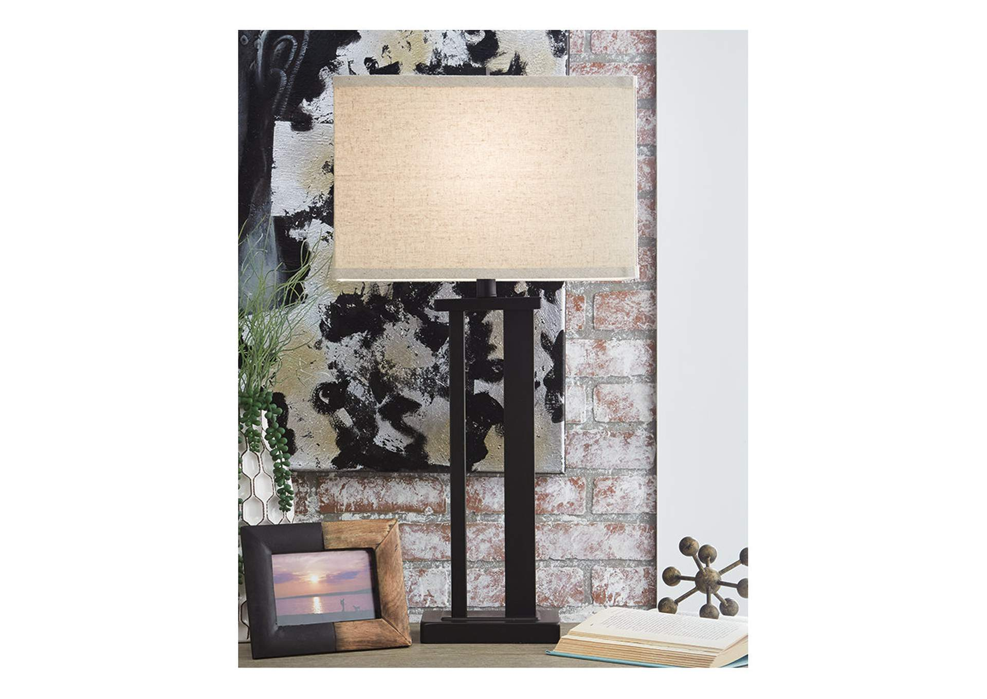 Aniela Bronze Finish Metal Table Lamp (2/CN),Signature Design By Ashley