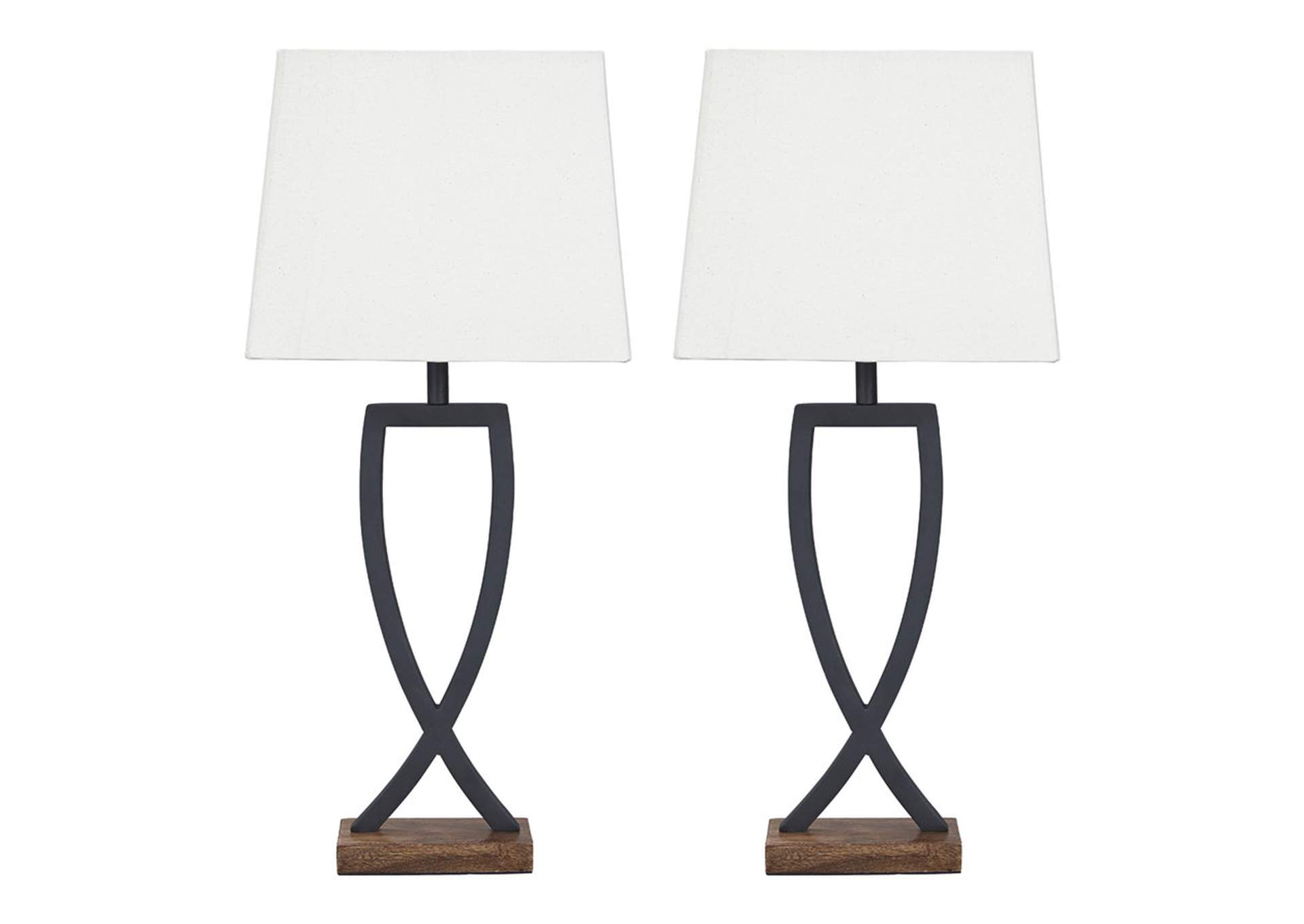 Makara Black/Brown Metal Table Lamp (2 Per Set),Signature Design By Ashley
